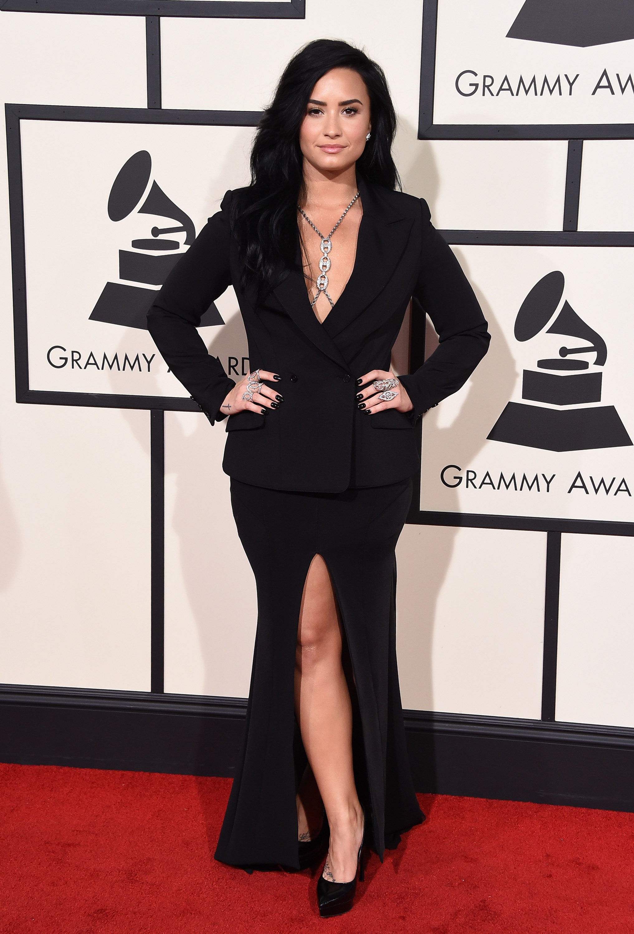 Demi Lovato attends the 58th GRAMMY Awards at Staples Center on Feb. 15, 2016 in Los Angeles.