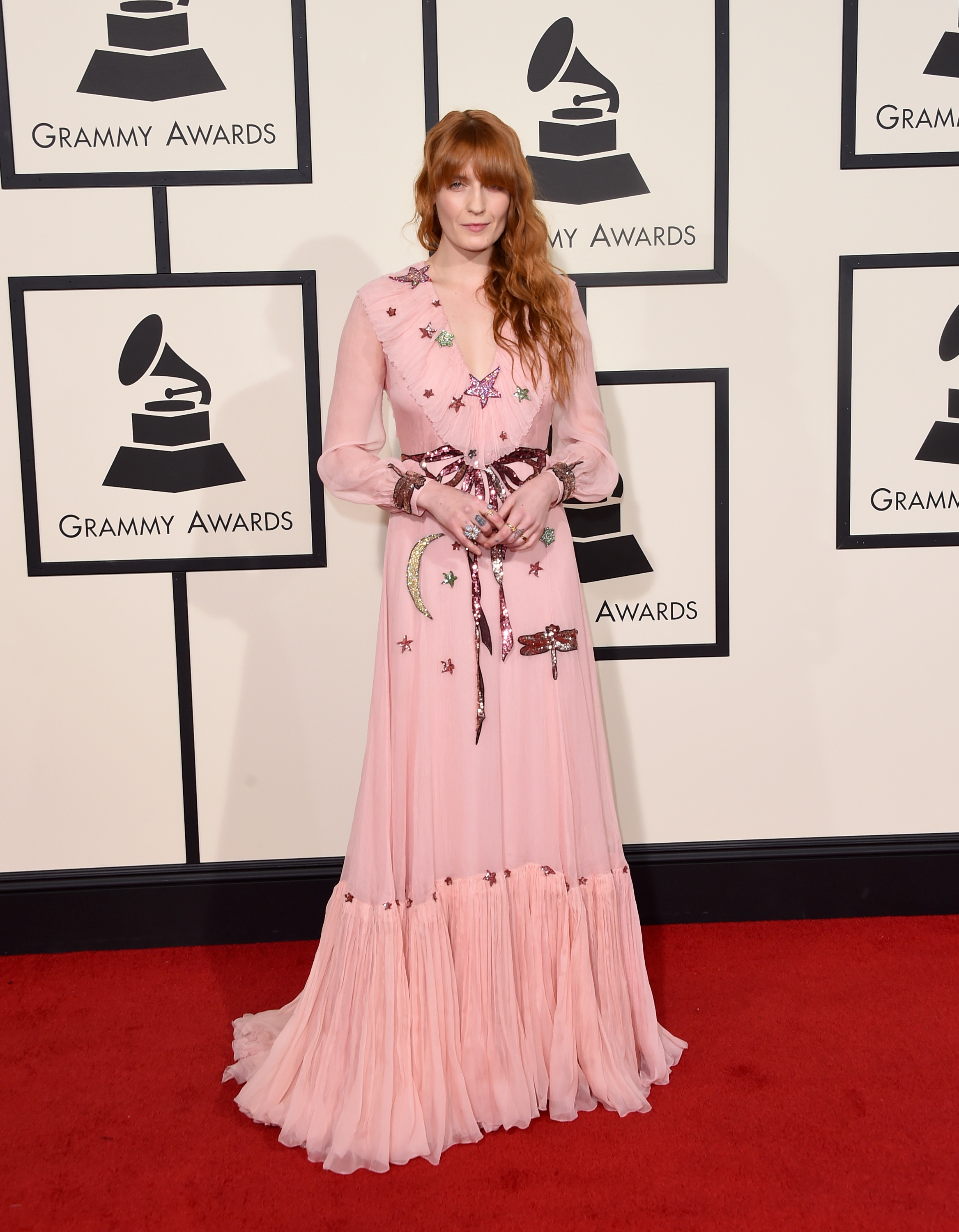 Florence Welch attends the 58th GRAMMY Awards at Staples Center on Feb. 15, 2016 in Los Angeles.
