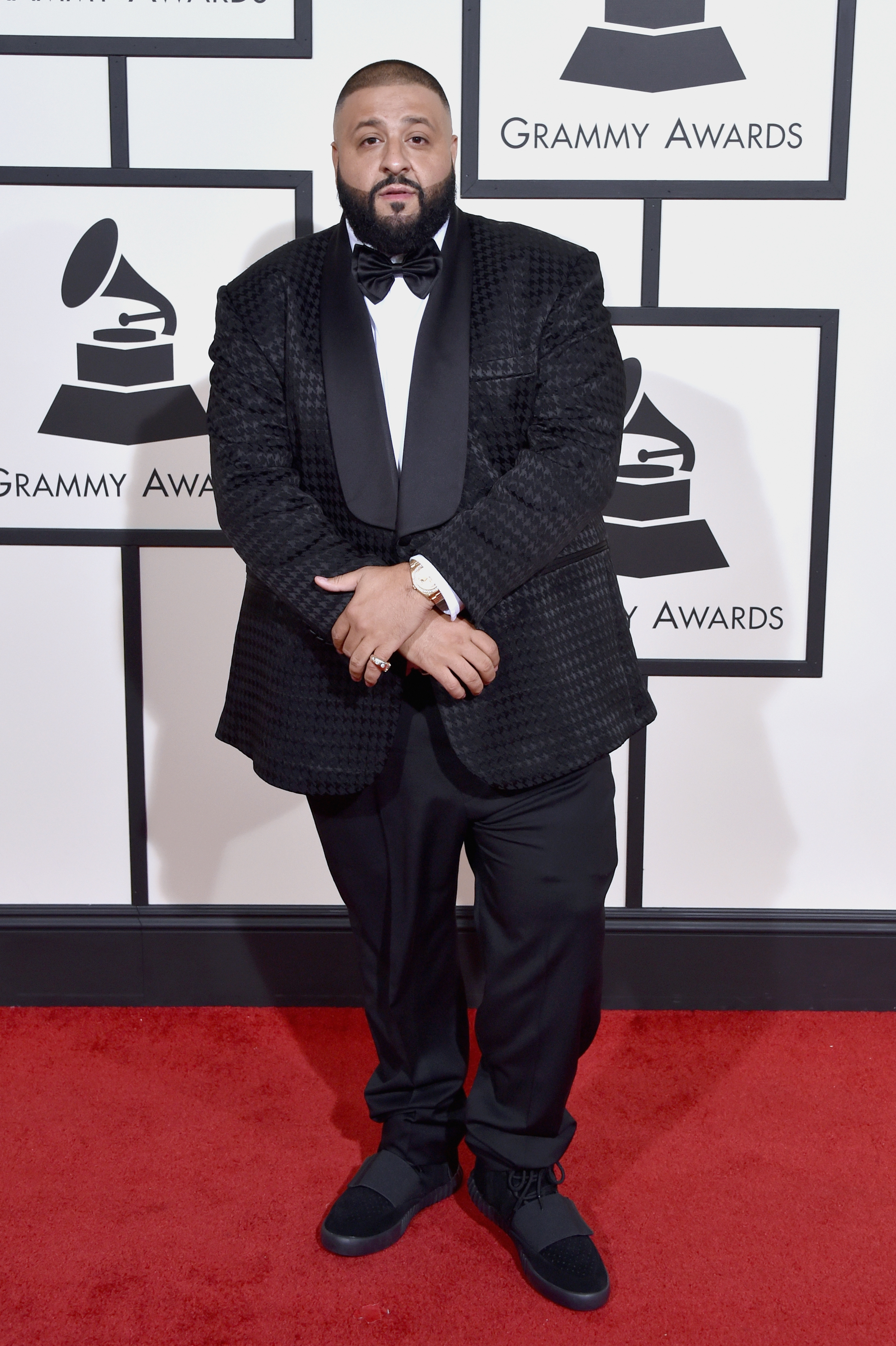 DJ Khaled attends the 58th GRAMMY Awards at Staples Center on Feb. 15, 2016 in Los Angeles.