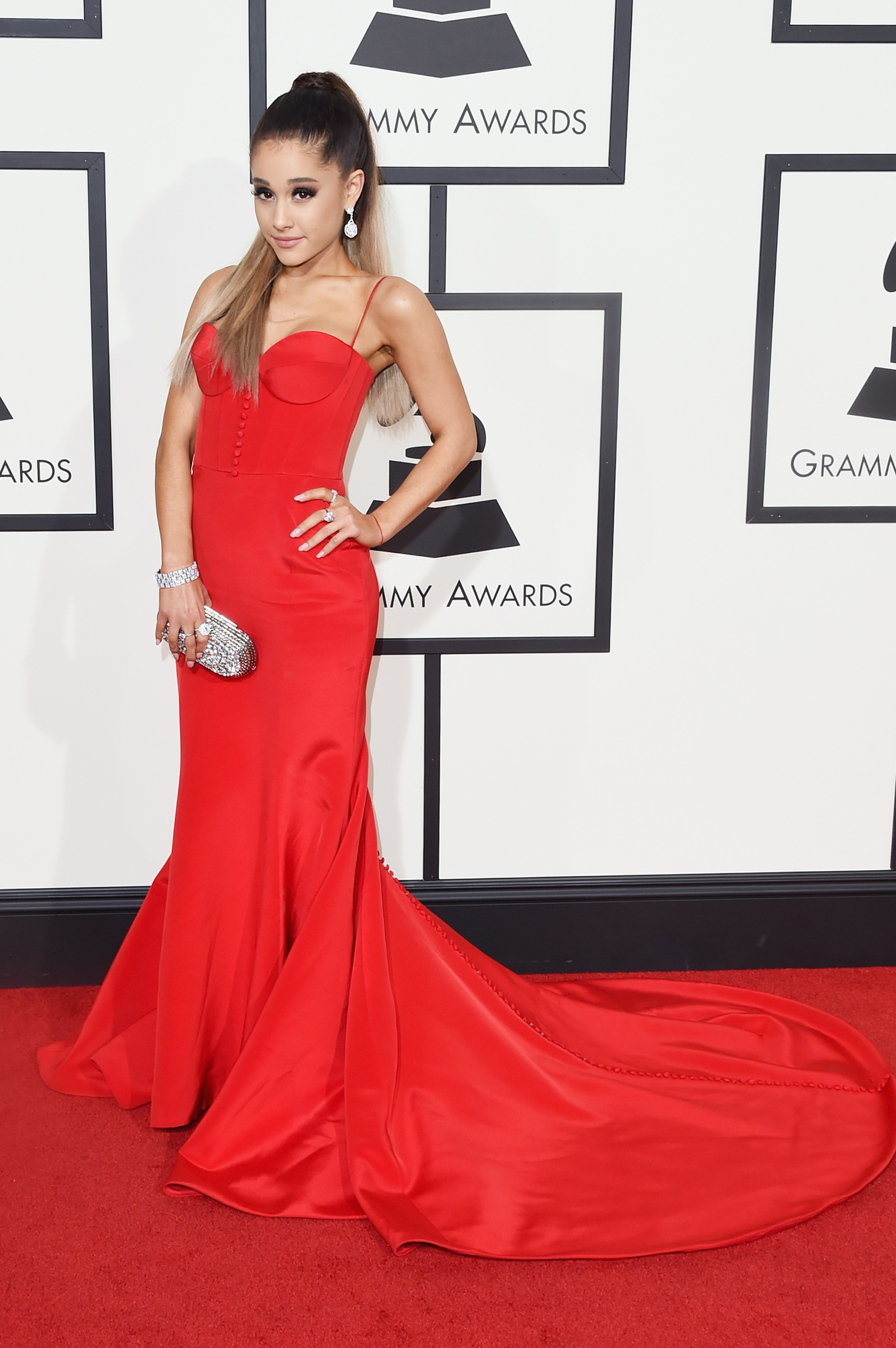Ariana Grande attends the 58th GRAMMY Awards at Staples Center on Feb. 15, 2016 in Los Angeles.