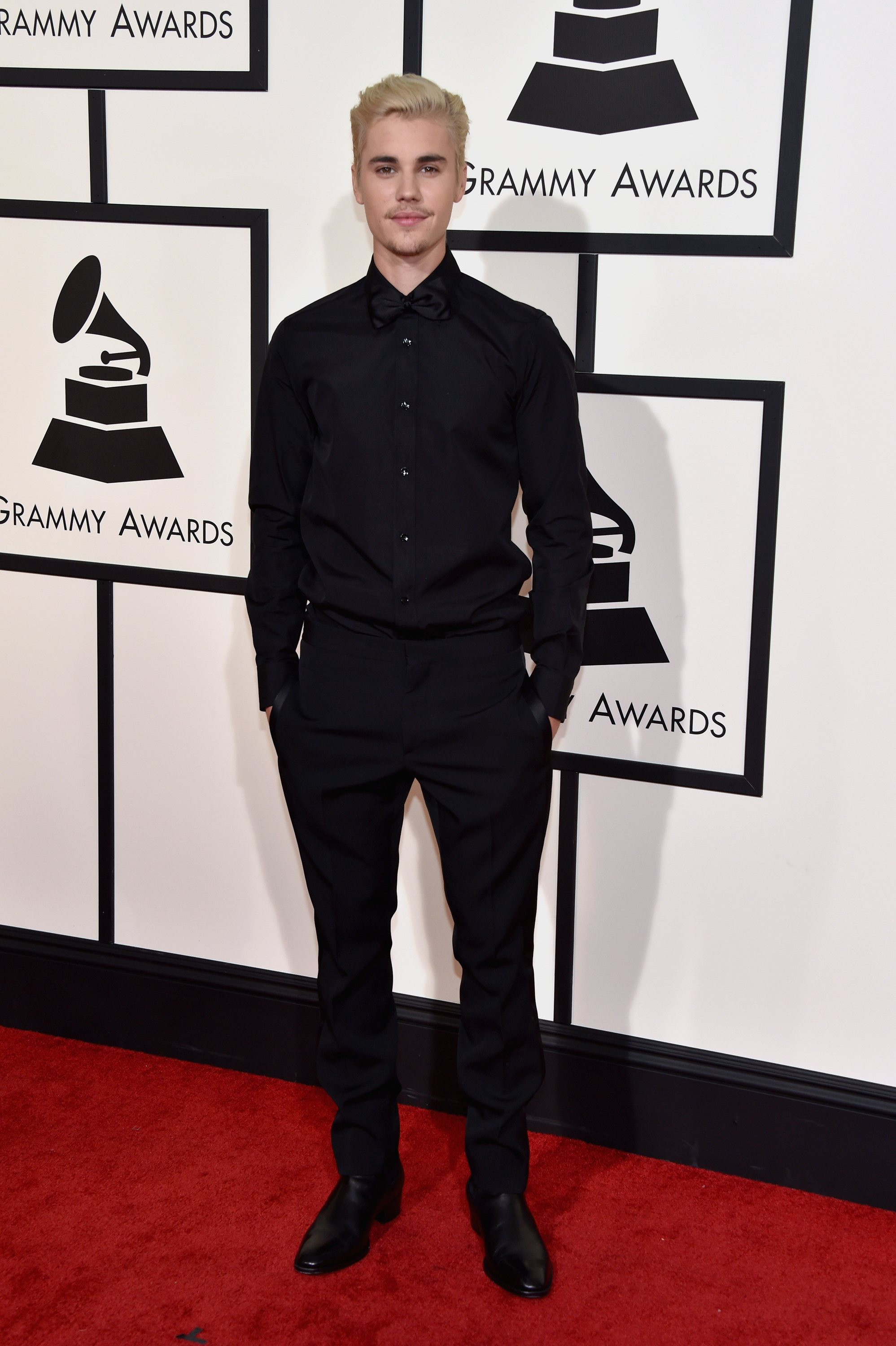 Justin Bieber attends the 58th GRAMMY Awards at Staples Center on Feb. 15, 2016 in Los Angeles.