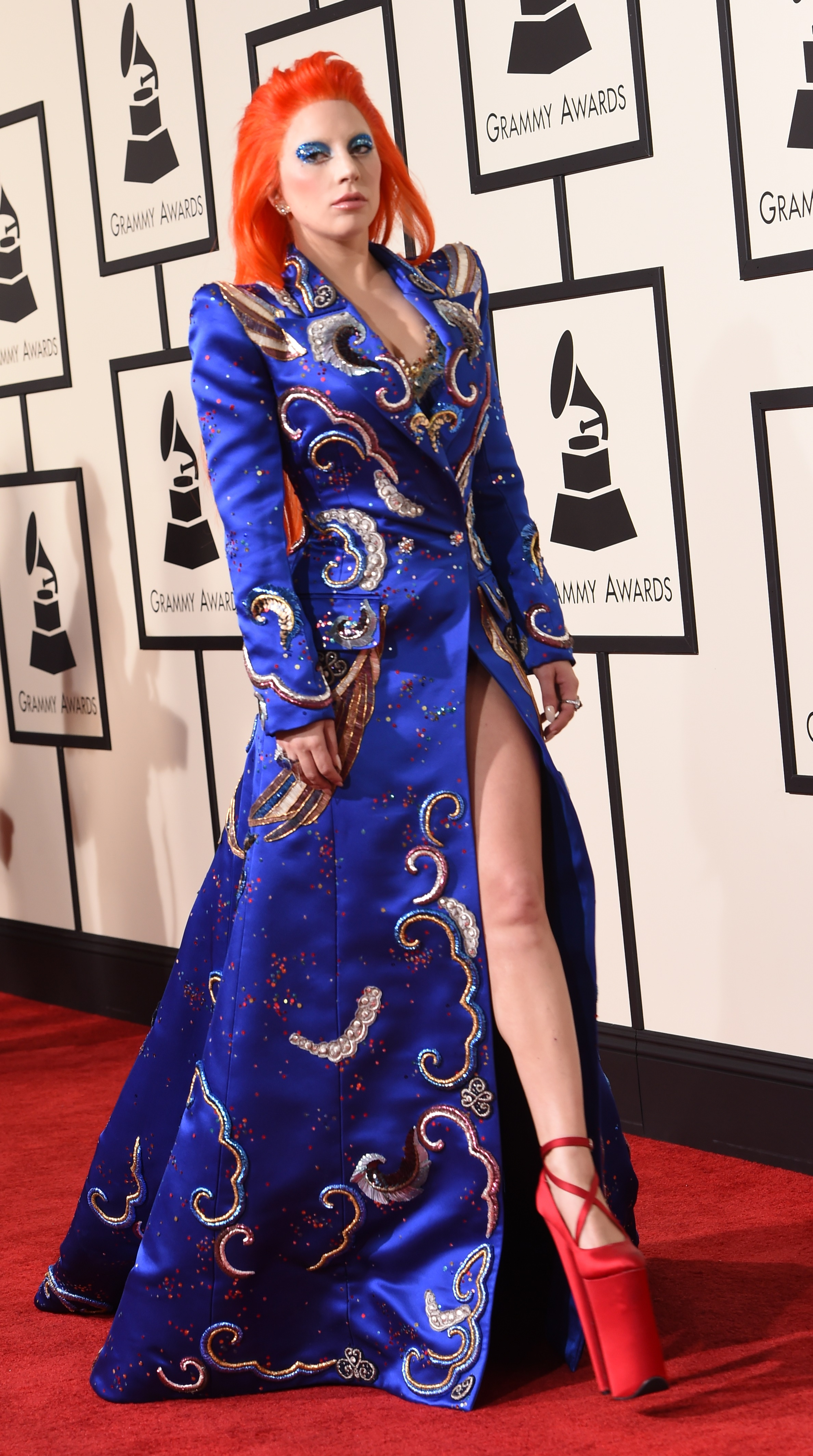 Lady Gaga attends the 58th GRAMMY Awards at Staples Center on Feb. 15, 2016 in Los Angeles.