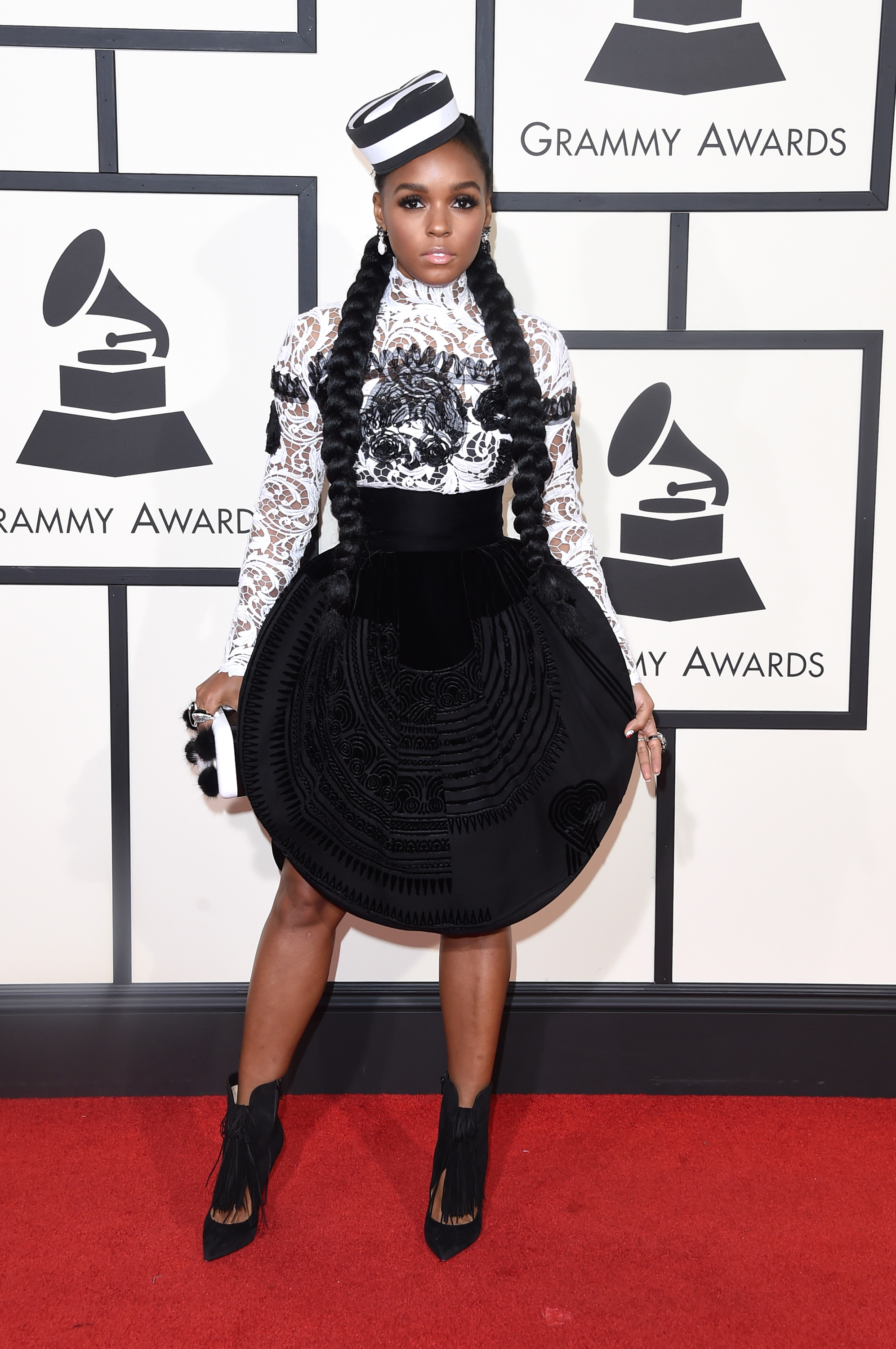 Janelle Monáe attends the 58th GRAMMY Awards at Staples Center on Feb. 15, 2016 in Los Angeles.