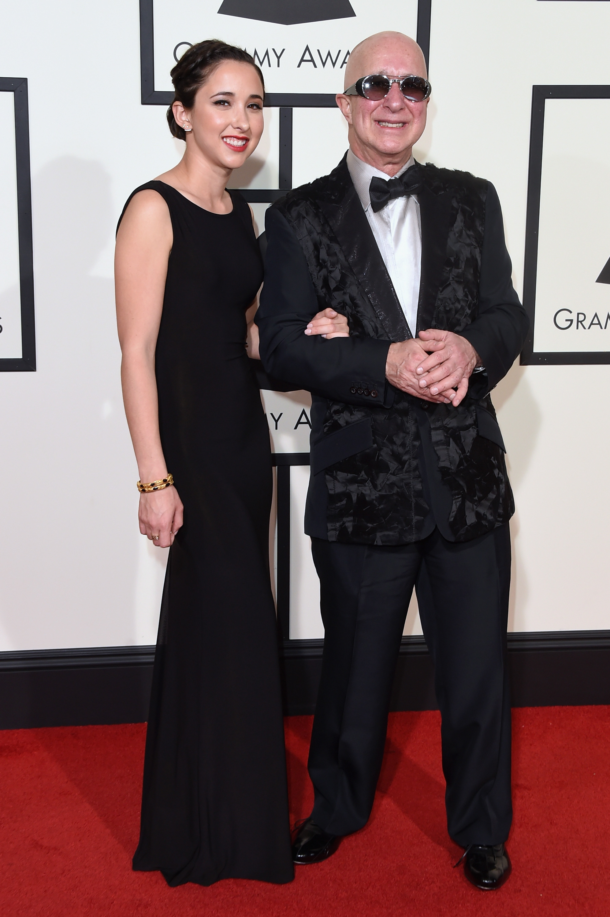Victoria Shaffer, left, and Paul Shaffer, right, attend the 58th GRAMMY Awards at Staples Center on Feb. 15, 2016 in Los Angeles.