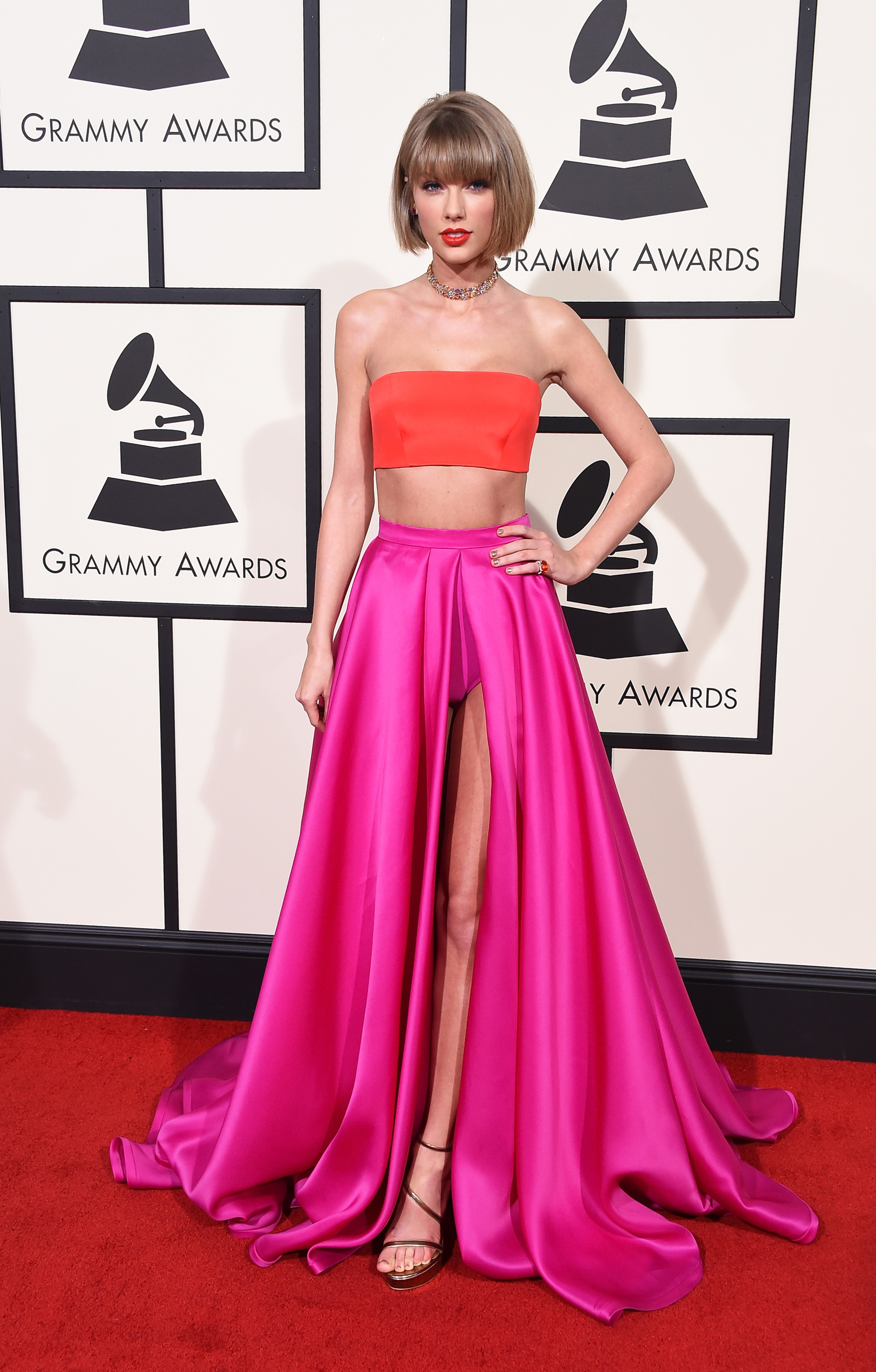 Taylor Swift attends the 58th GRAMMY Awards at Staples Center on Feb. 15, 2016 in Los Angeles.