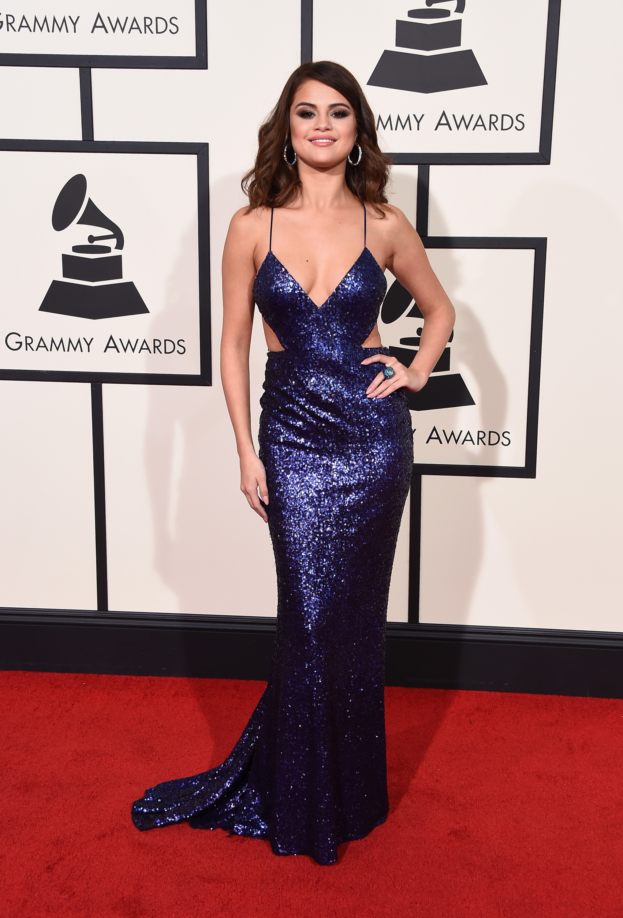 Selena Gomez attends the 58th GRAMMY Awards at Staples Center on Feb. 15, 2016 in Los Angeles.