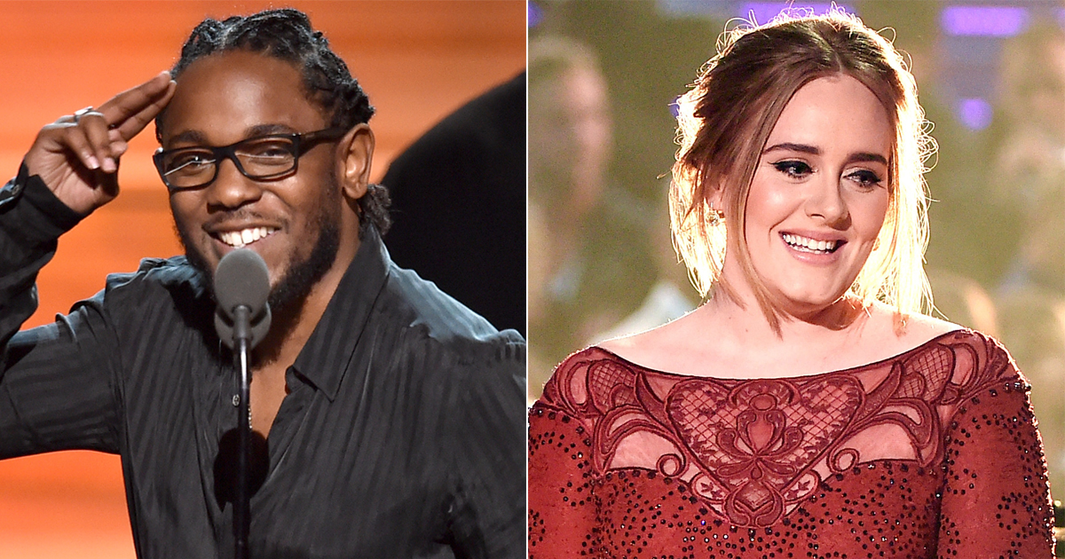 Kendrick Lamar and Adele.