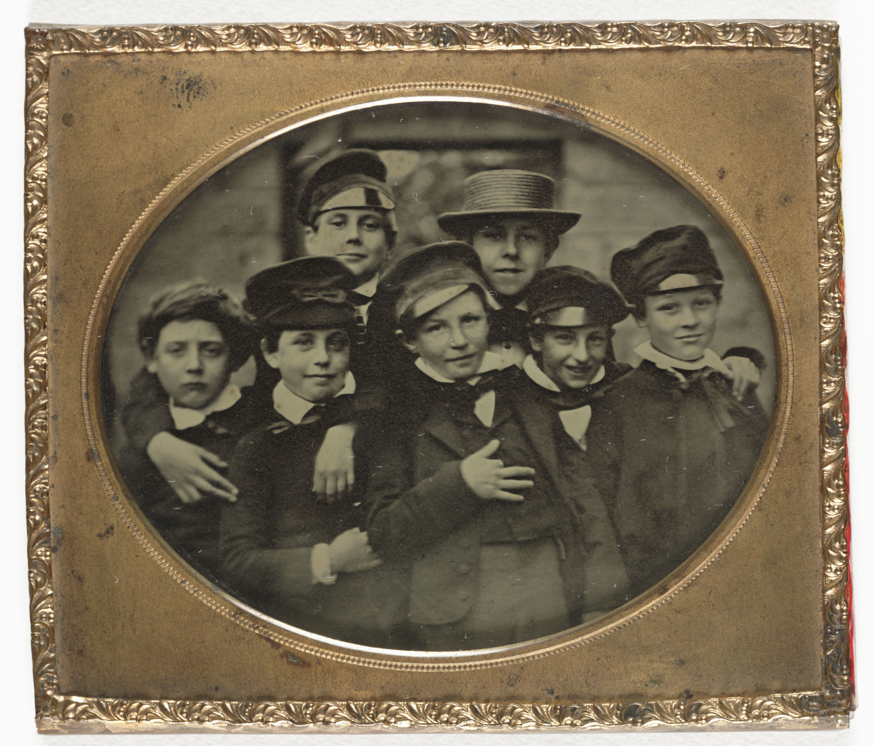 Group of young boys, c 1860.