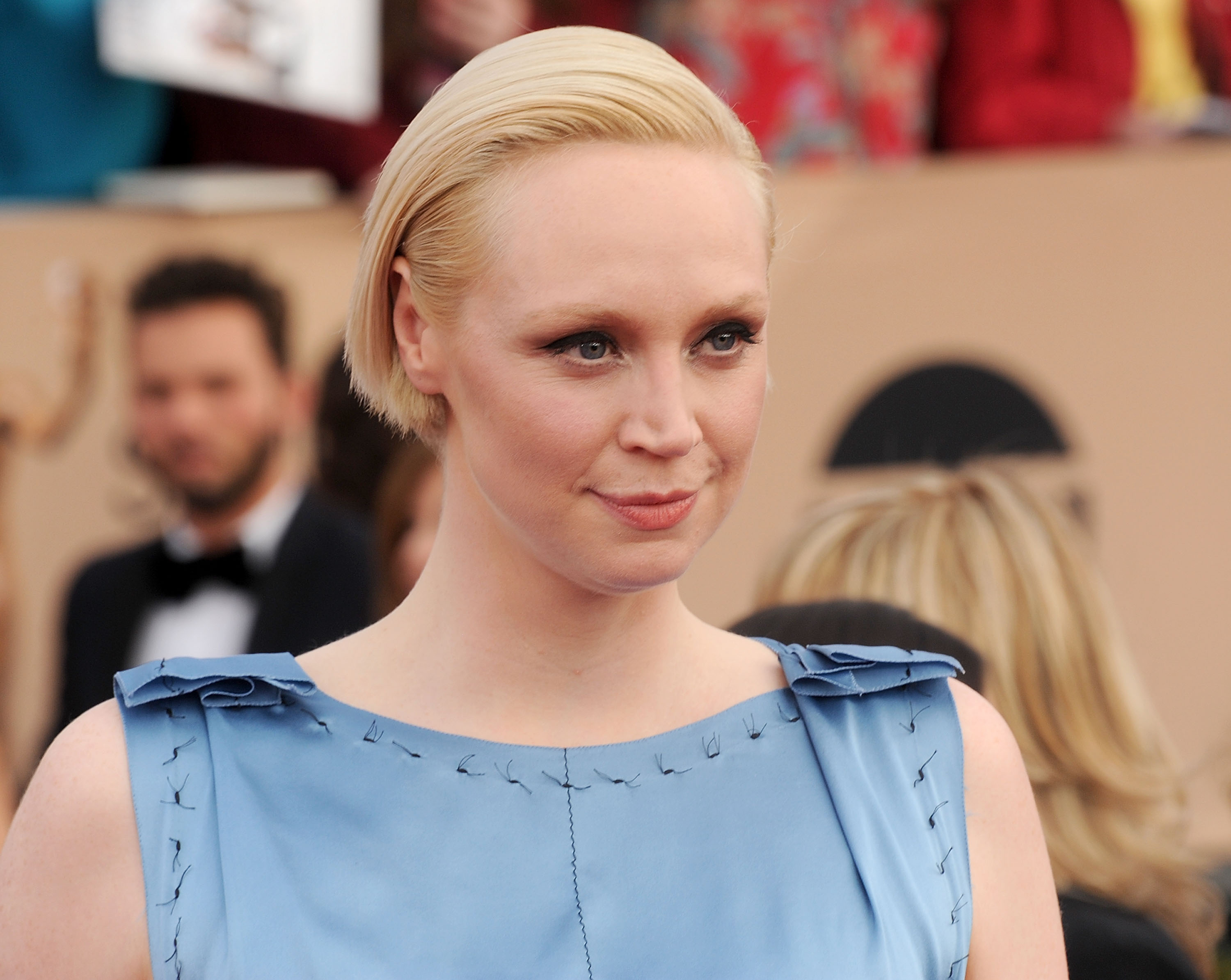 Actress Gwendoline Christie arrives at the 22nd Annual Screen Actors Guild Awards at The Shrine Auditorium on January 30, 2016 in Los Angeles, California.