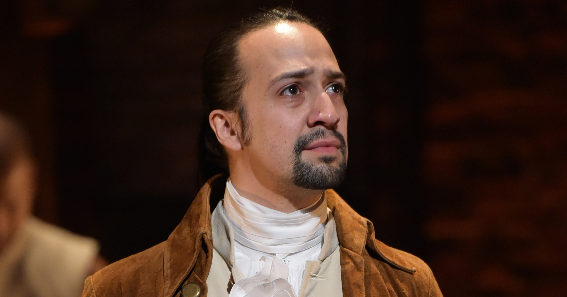 Lin-Manuel Miranda performs during the Hamilton GRAMMY performance on Feb. 15, 2016 in New York City.