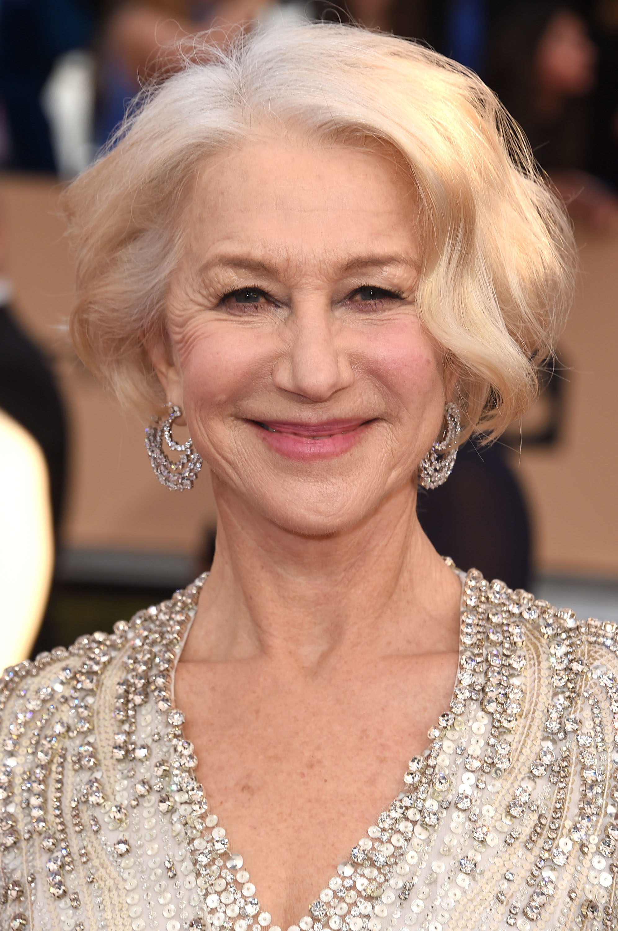 Helen Mirren arrives at the 22nd Annual Screen Actors Guild Awards at The Shrine Auditorium on January 30, 2016 in Los Angeles, California.