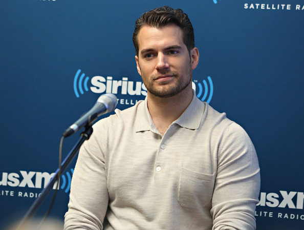 Actor Henry Cavill takes part in SiriusXM's Entertainment Weekly Radio 'The Man from U.N.C.L.E.' Town Hall with Guy Ritchie, Henry Cavill and Armie Hammer on August 12, 2015 in New York City.