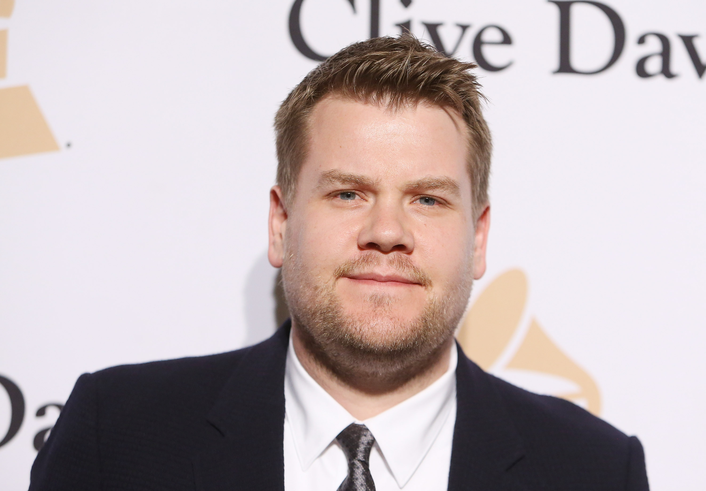 James Corden arrives at the 2016 Pre-GRAMMY Gala and Salute to Industry Icons honoring Irving Azoff held at The Beverly Hilton Hotel on February 14, 2016 in Beverly Hills, California.