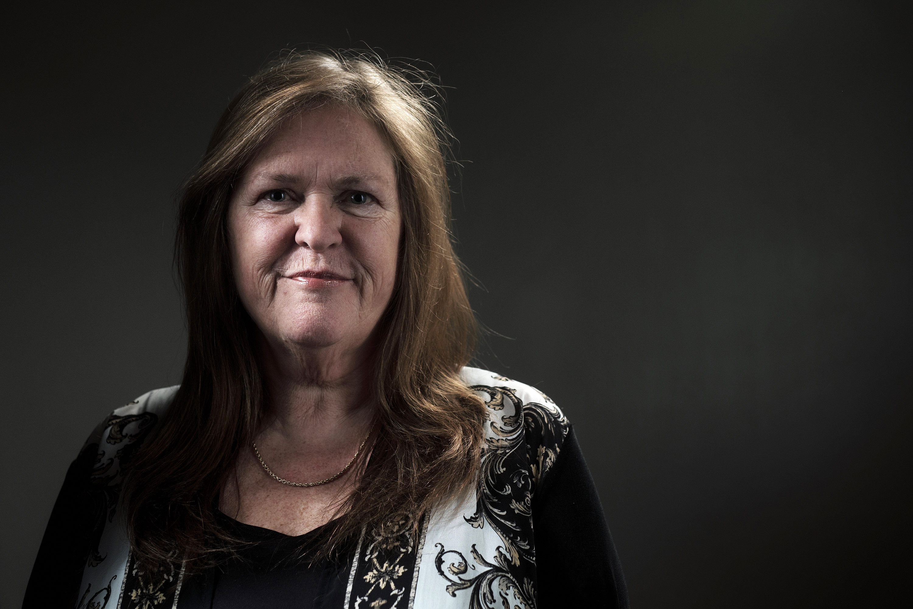 Jane Sanders, wife of Vermont Senator and 2016 Democratic presidential candidate Bernie Sanders, stands for a photograph following a campaign event and interview in Fort Madison, Iowa on Jan. 29, 2016.