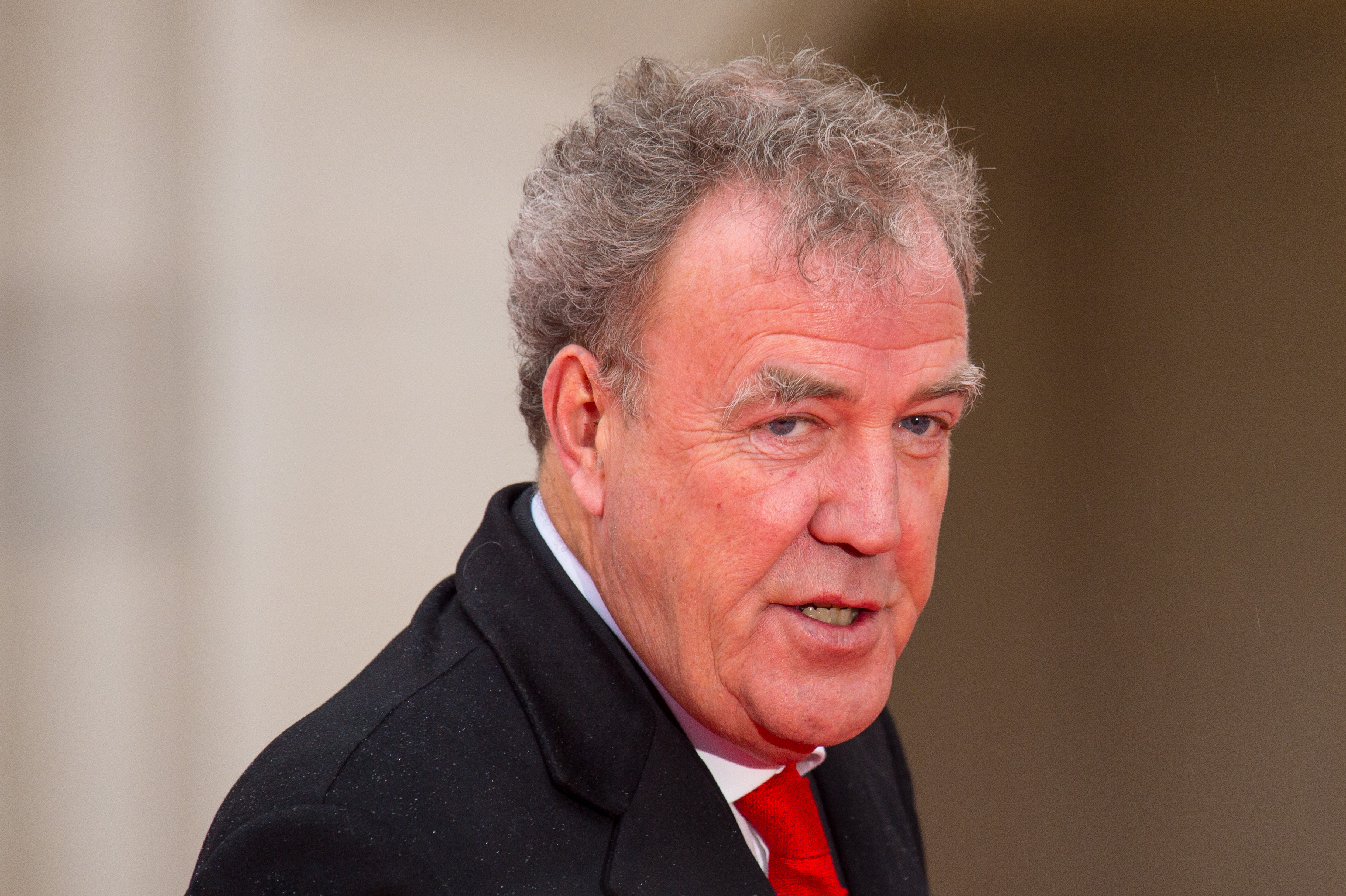 Jeremy Clarkson arriving at the Sun Military Awards, in London on Jan. 22., 2016.