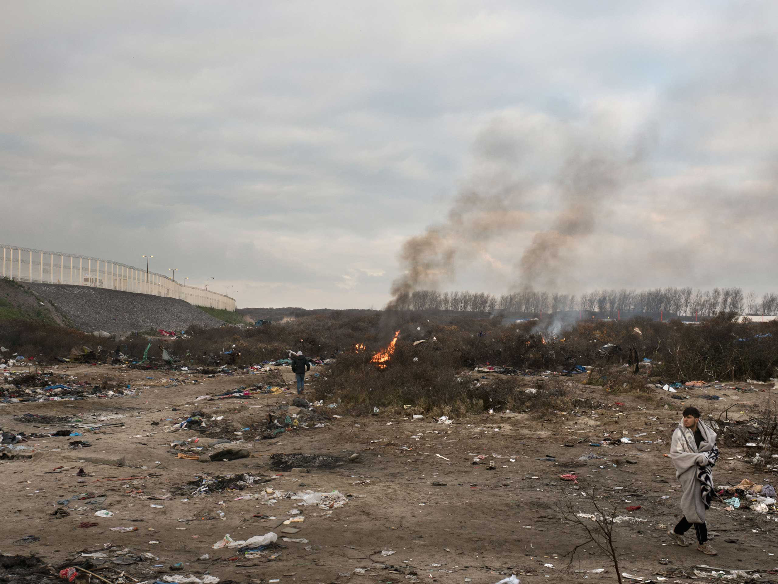 French authorities have begun to clean up the 'Jungle' of Calais, the shantytown near Calais city, where migrants live before they attempt to enter the United Kingdom, Jan. 20, 2016.