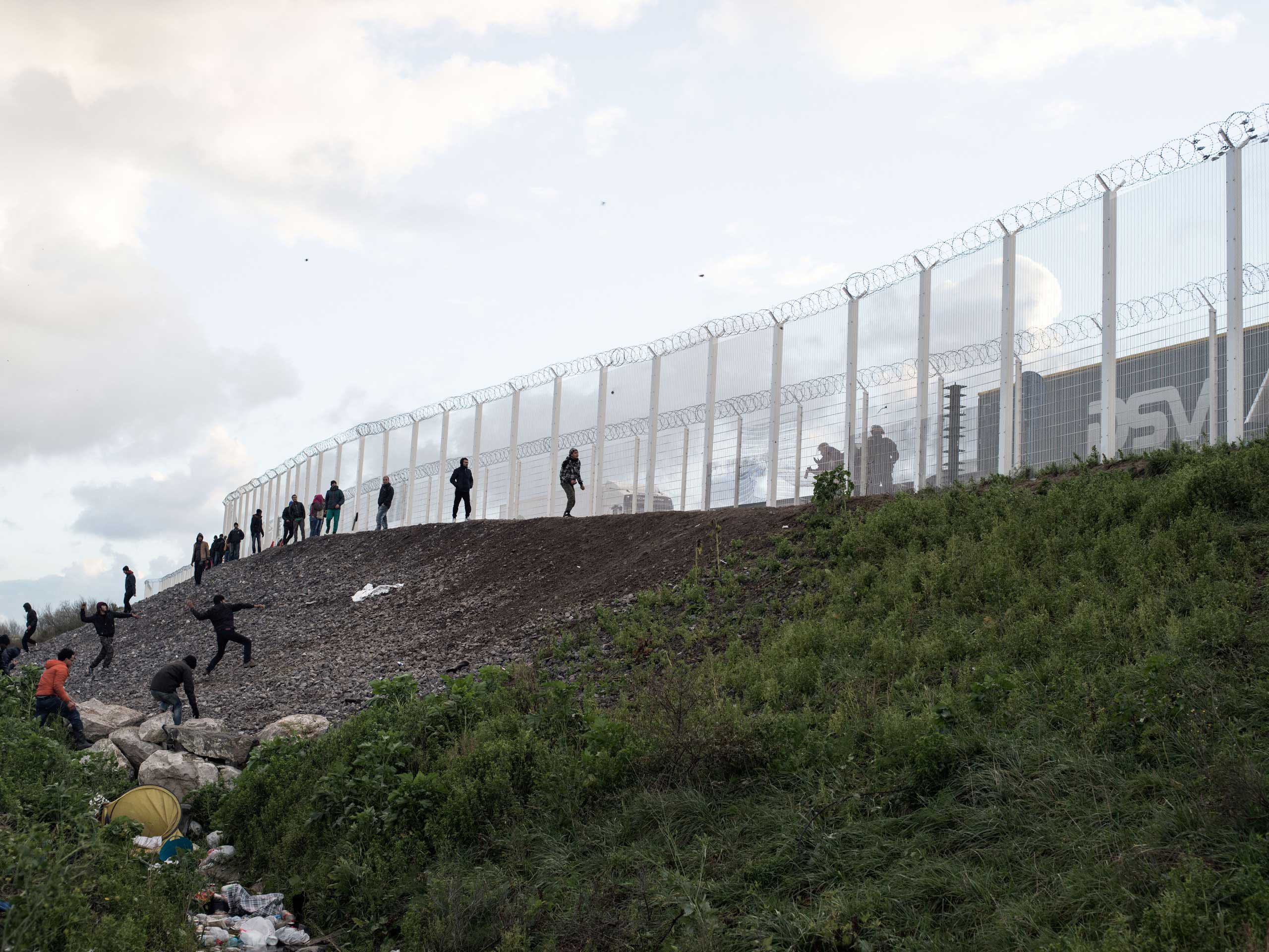 Clashes between migrants from the  jungle  in Calais, France and police have increased in frequency, Nov. 25. 2015.
