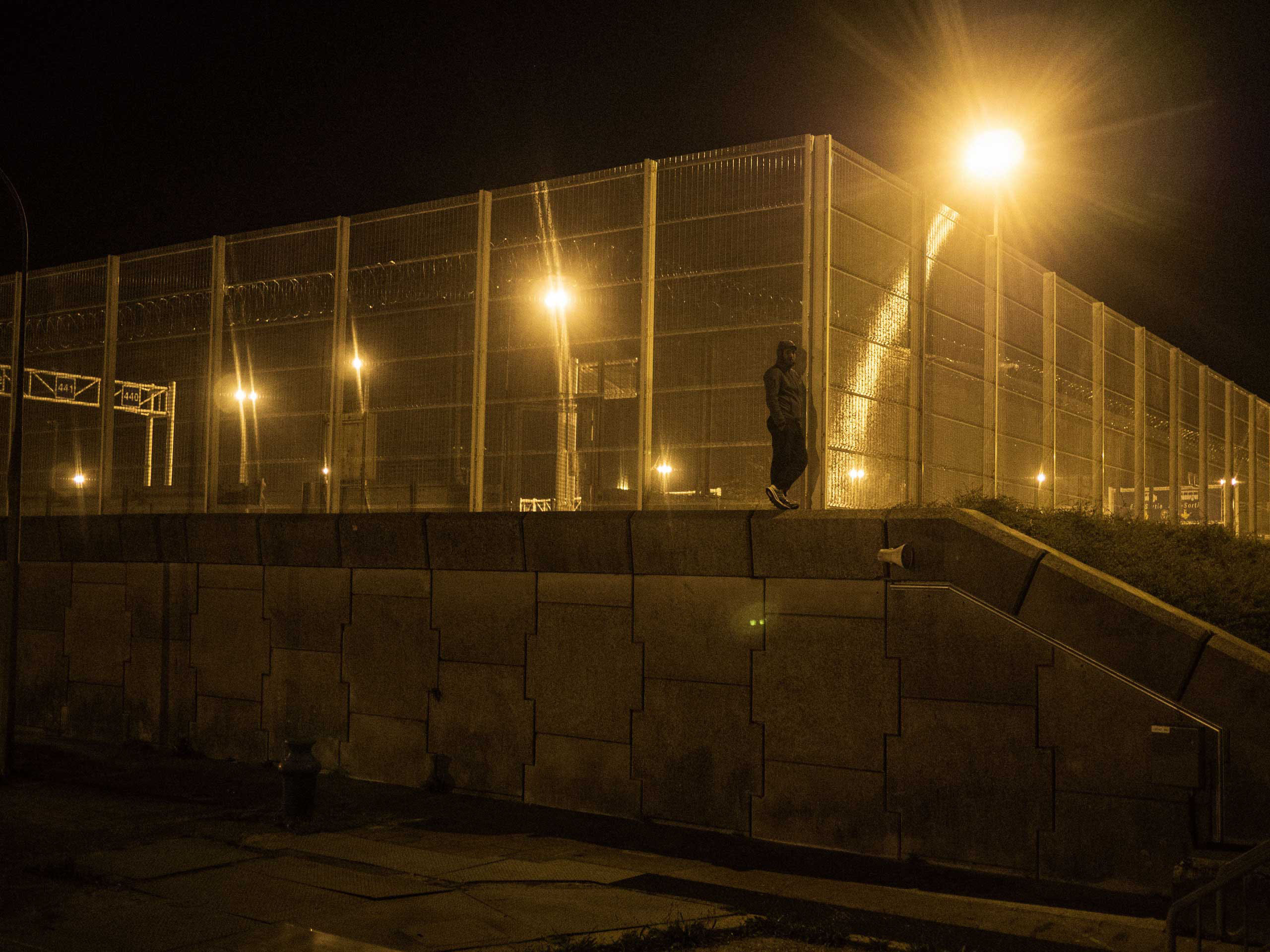 A fence at the shantytown known as the  jungle  in Calais, France where migrants take shelter before attempting to make their way to the United Kingdom, Sept. 17, 2015, Calais, France.