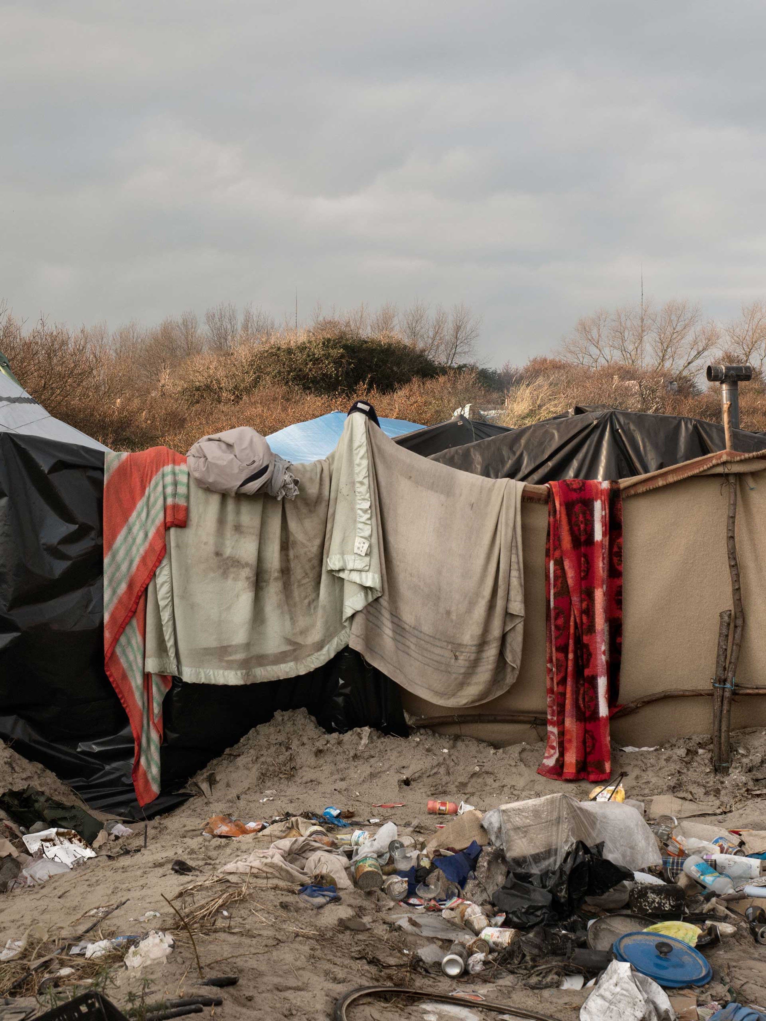 A dwelling for migrants in the  jungle  in Calais, France, Jan. 20, 2016.