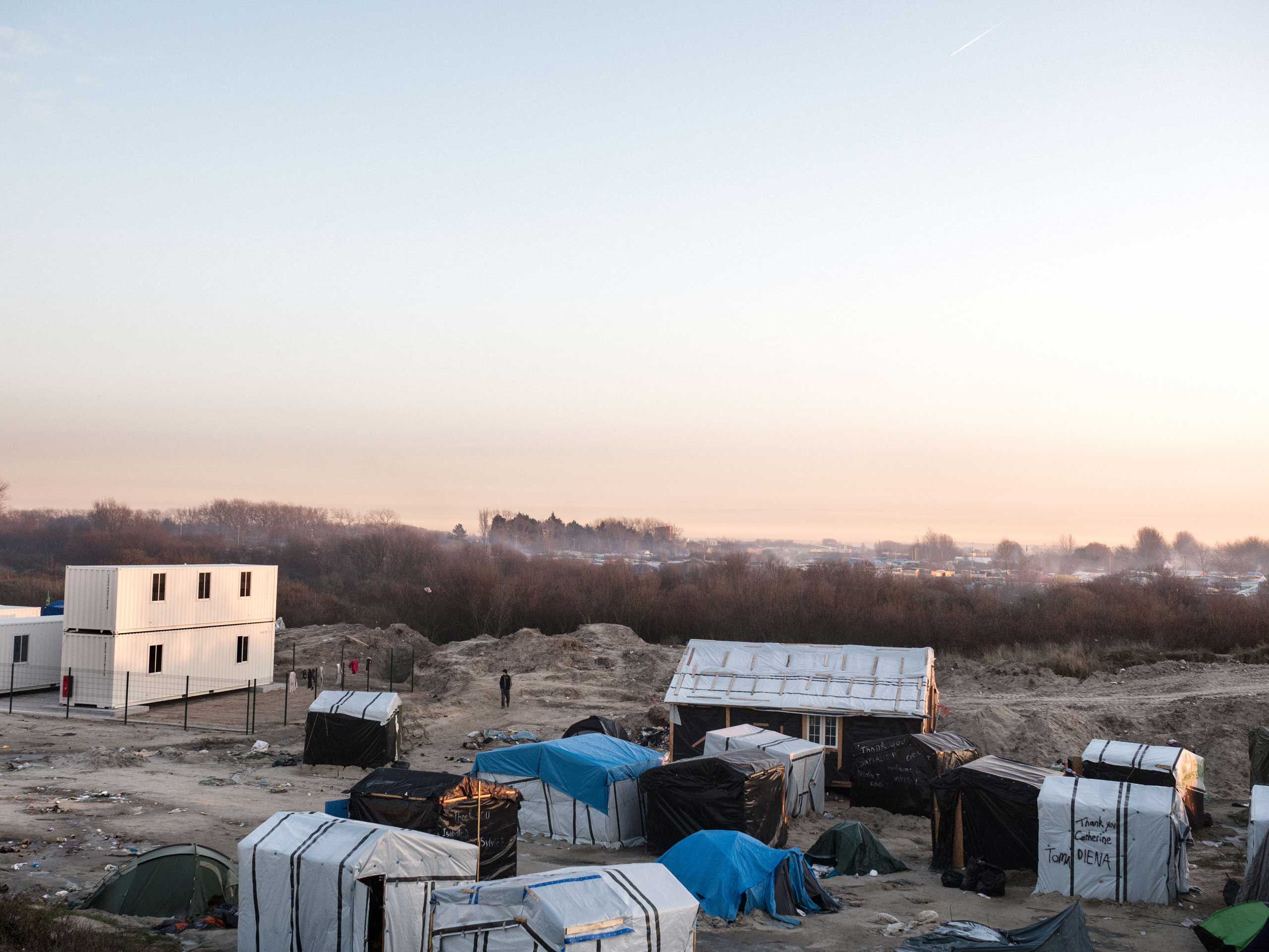 New construction  for migrants has begun in Calais, France intended to take the place of the  jungle  tent dwellings, Jan. 19, 2016.