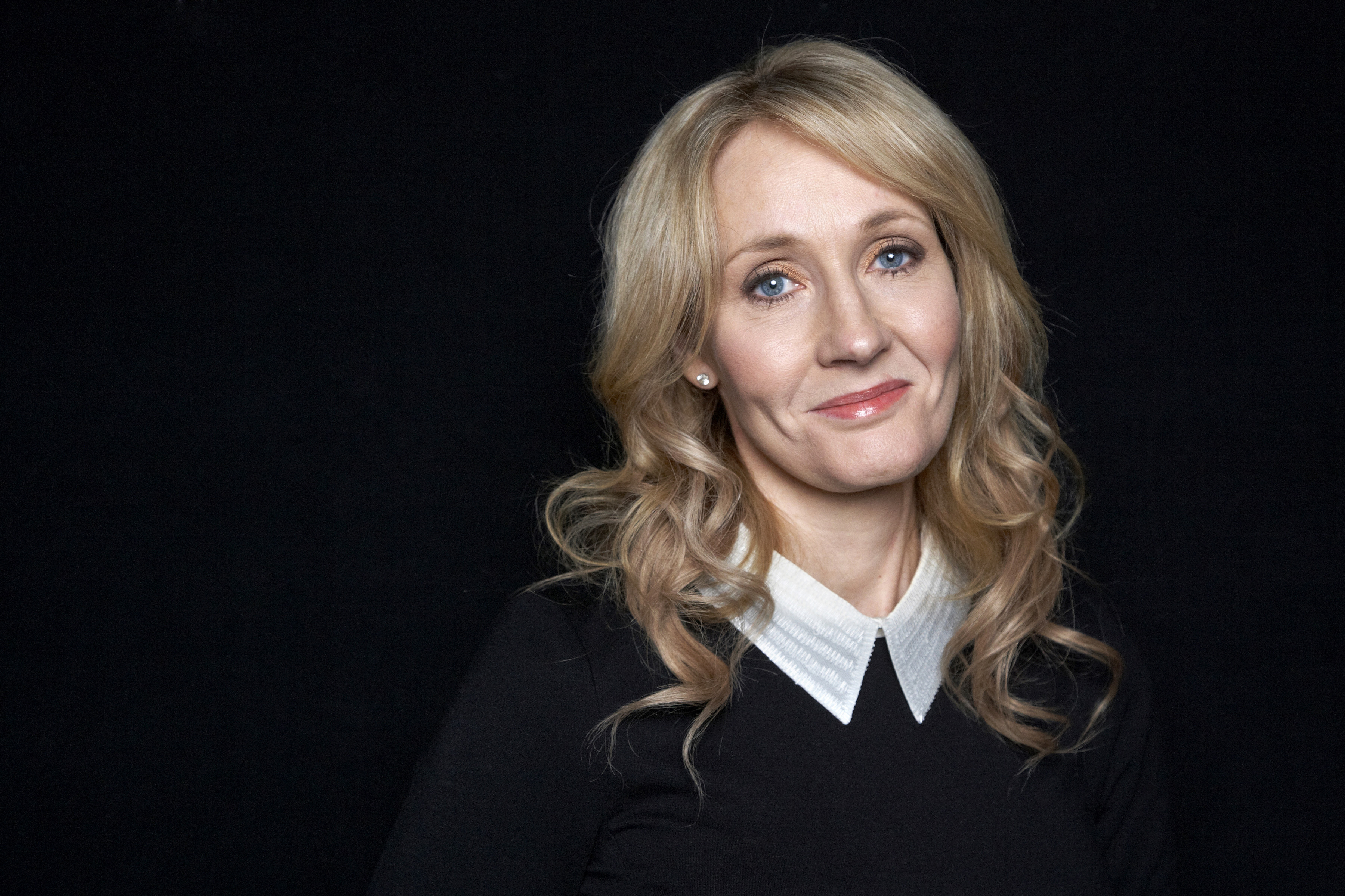J.K. Rowling poses for a photo during an appearance at The David H. Koch Theater in New York on Oct. 16, 2012.