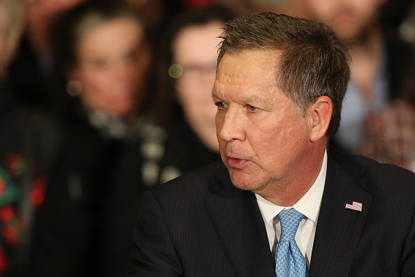 Republican presidential candidate Ohio Governor John Kasich speaks at a campaign gathering with supporters upon placing second place in the New Hampshire republican primary in Concord, N.H., Feb. 9, 2016.