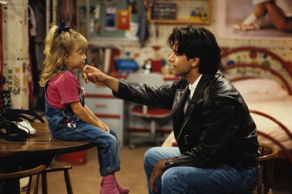 FULL HOUSE - 'Educating Jesse' - Season Six - 10/27/92, Jesse (John Stamos) had Michelle (Ashley Olsen) promise that she'd never be a quitter.