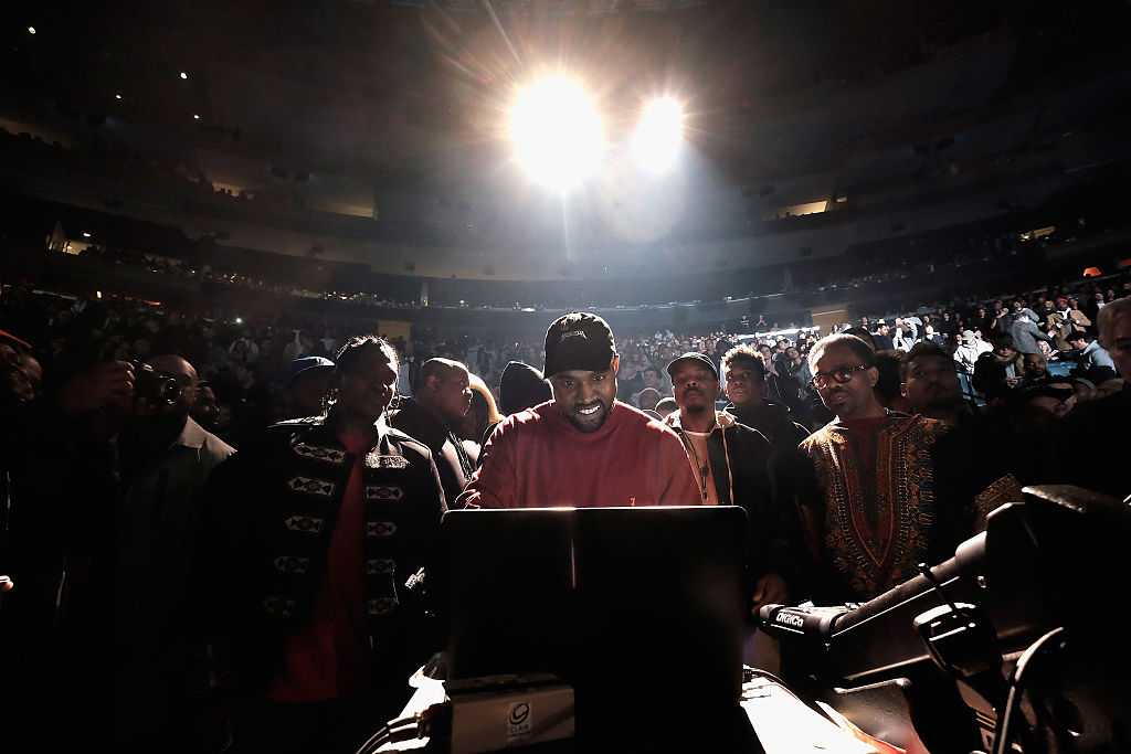 Kanye West at Madison Square Garden on Feb. 11.