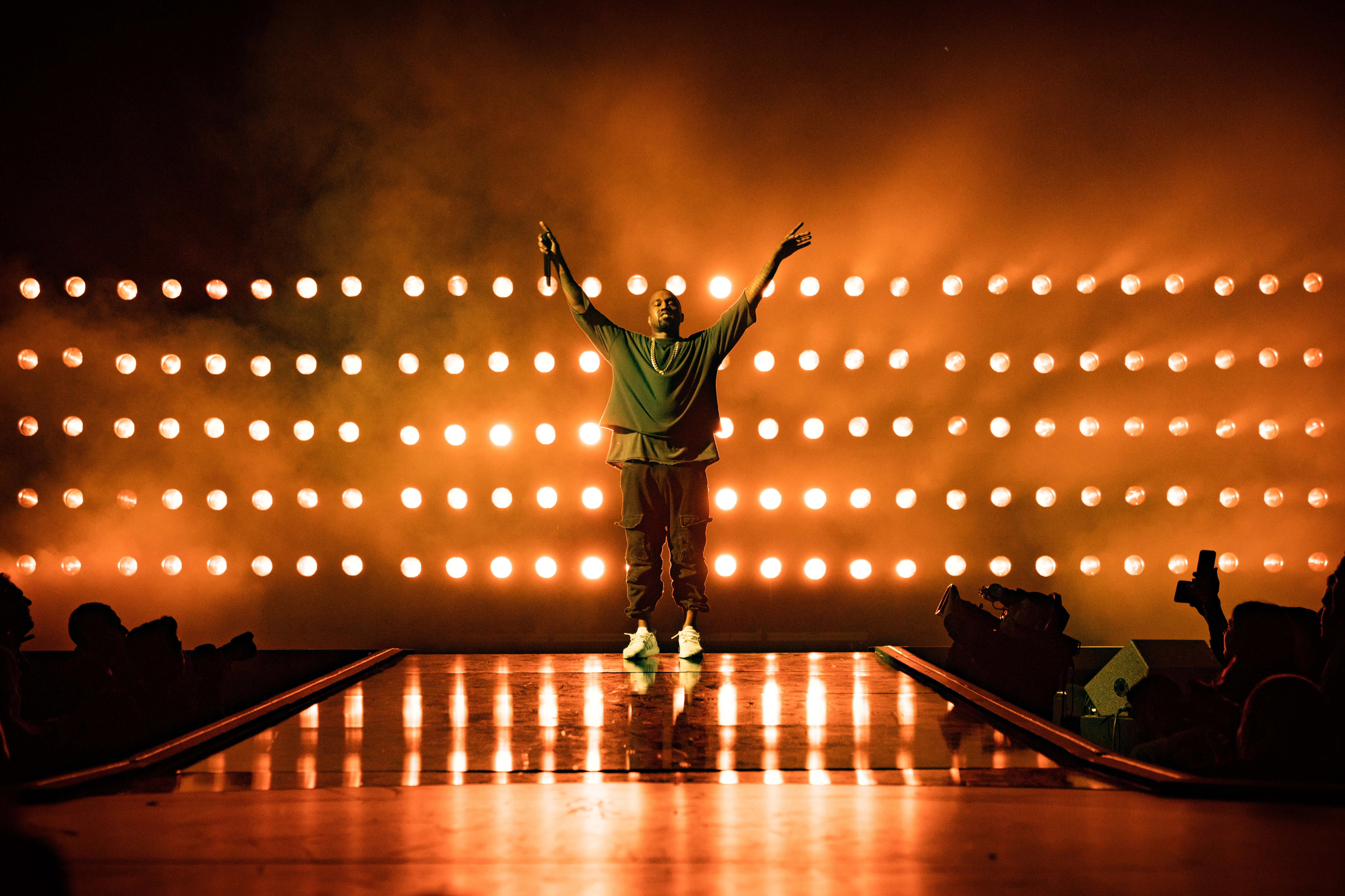 Kanye West performs onstage at the 2015 iHeartRadio Music Festival at MGM Grand Garden Arena on September 18, 2015 in Las Vegas, Nevada.