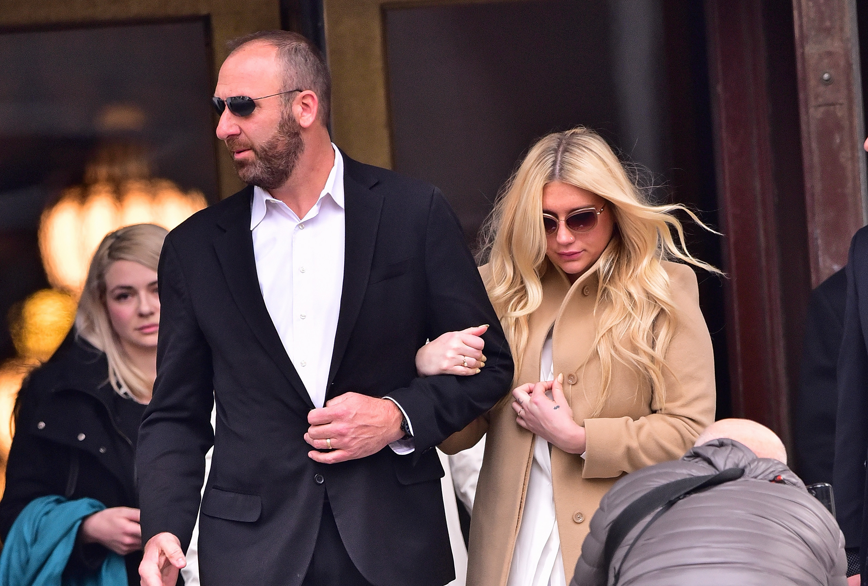 Kesha leaves the New York State Supreme Court on February 19, 2016 in New York City.
