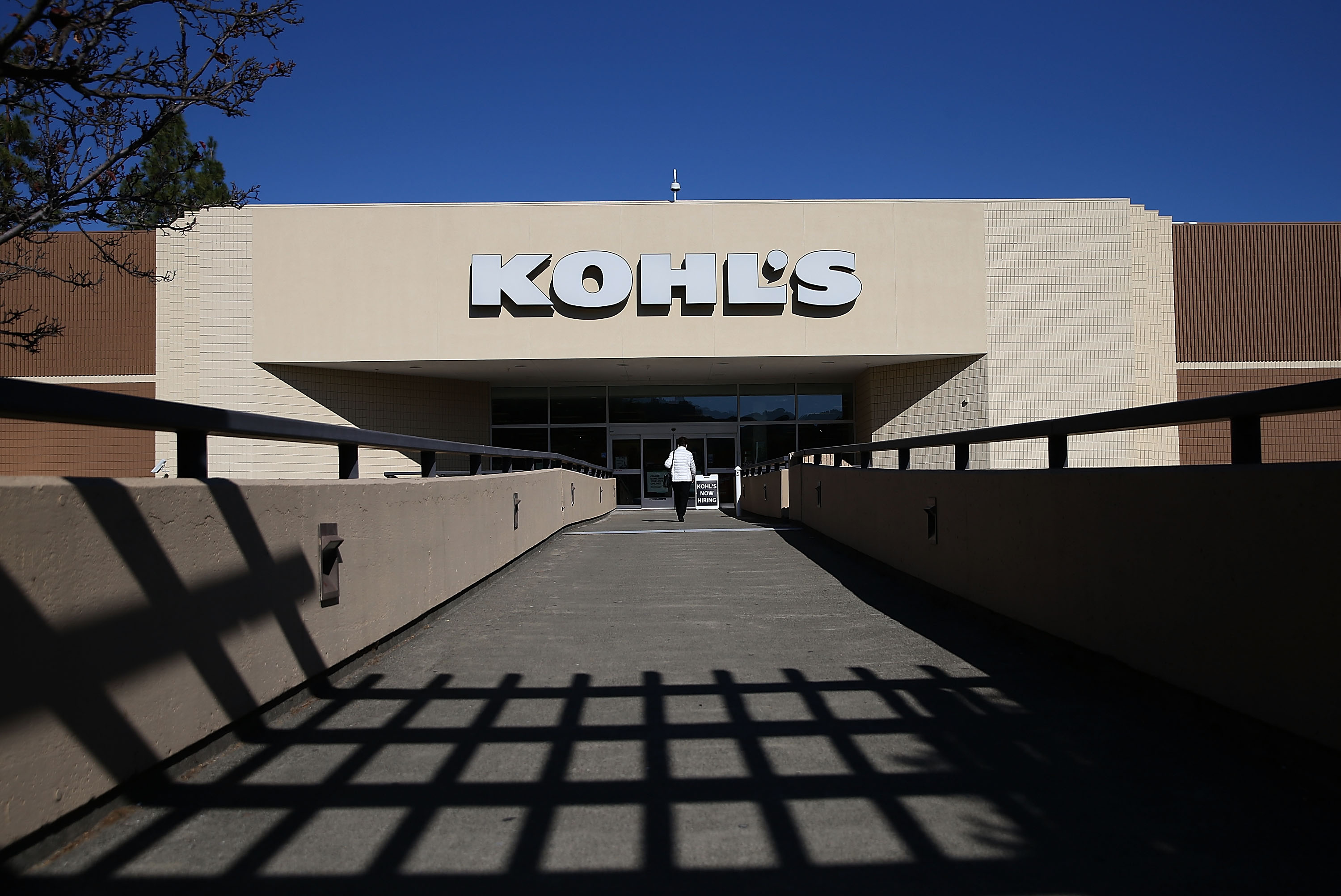 A customer enters a Kohl's store on November 12, 2015 in San Rafael, California.