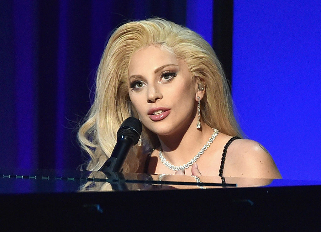 Lady Gaga performs onstage at the 27th Annual Producers Guild Of America Awards in Century City, Calif. on Jan. 23.