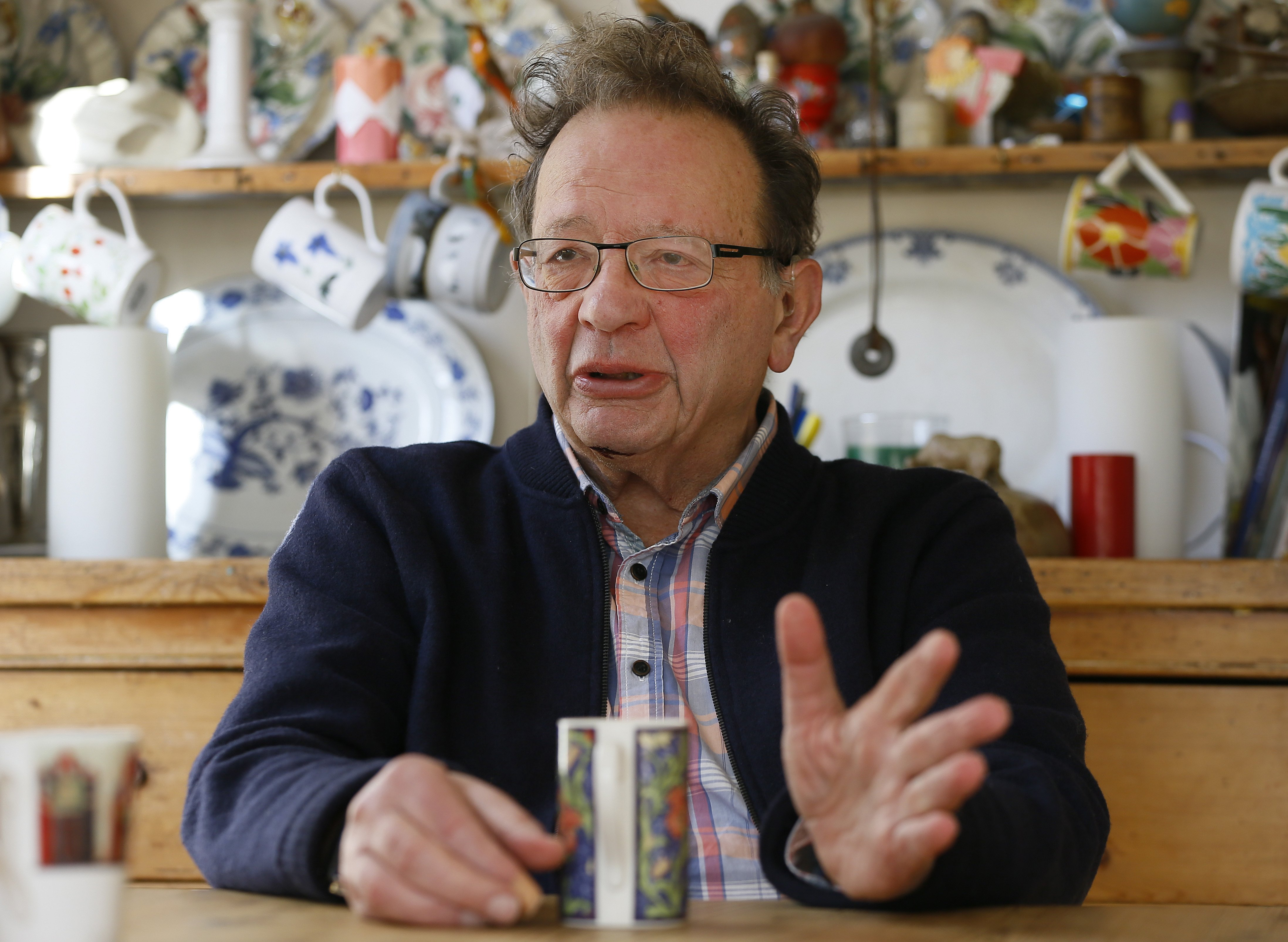 Larry Sanders at home in his kitchen in Oxford, England, on Feb. 15, 2016.