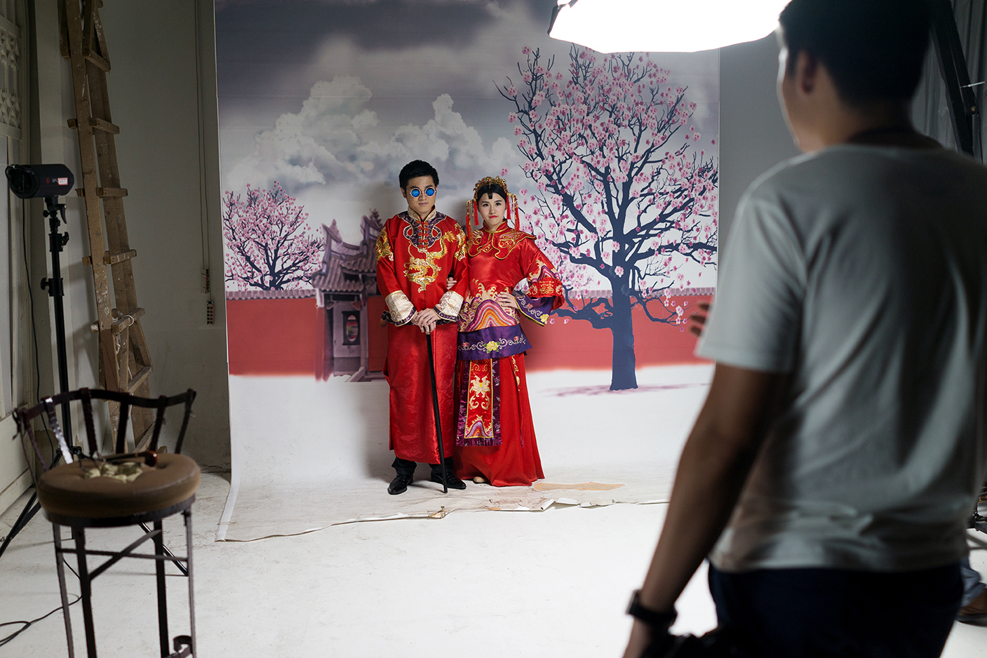 Only Photo Studio, outside of Shanghai, provides three floors of sets, and some packages include access to traditional Chinese attire.