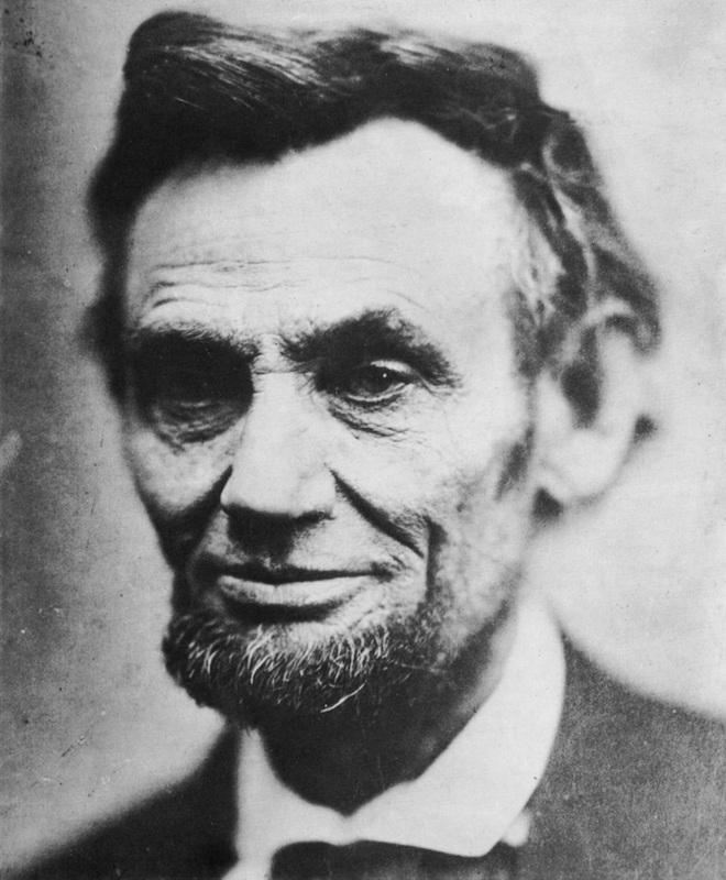 Last photograph of Abraham Lincoln, (1809-1865), 16th president of the United States of America, April 1865.