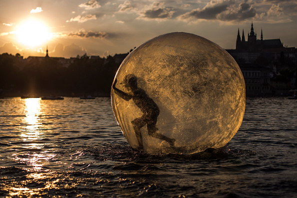 This Woman Is Running Across 20 Miles of Open Water in an Inflatable Ball