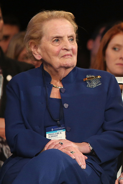 Madeleine Albright attends the 2015 Clinton Global Initiative Closing Plenary at Sheraton Times Square on September 29, 2015 in New York City.