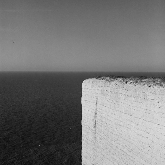 The cliffs of Beachy Head. It takes just six seconds to plunge the 535ft to the rocks below. 1997.