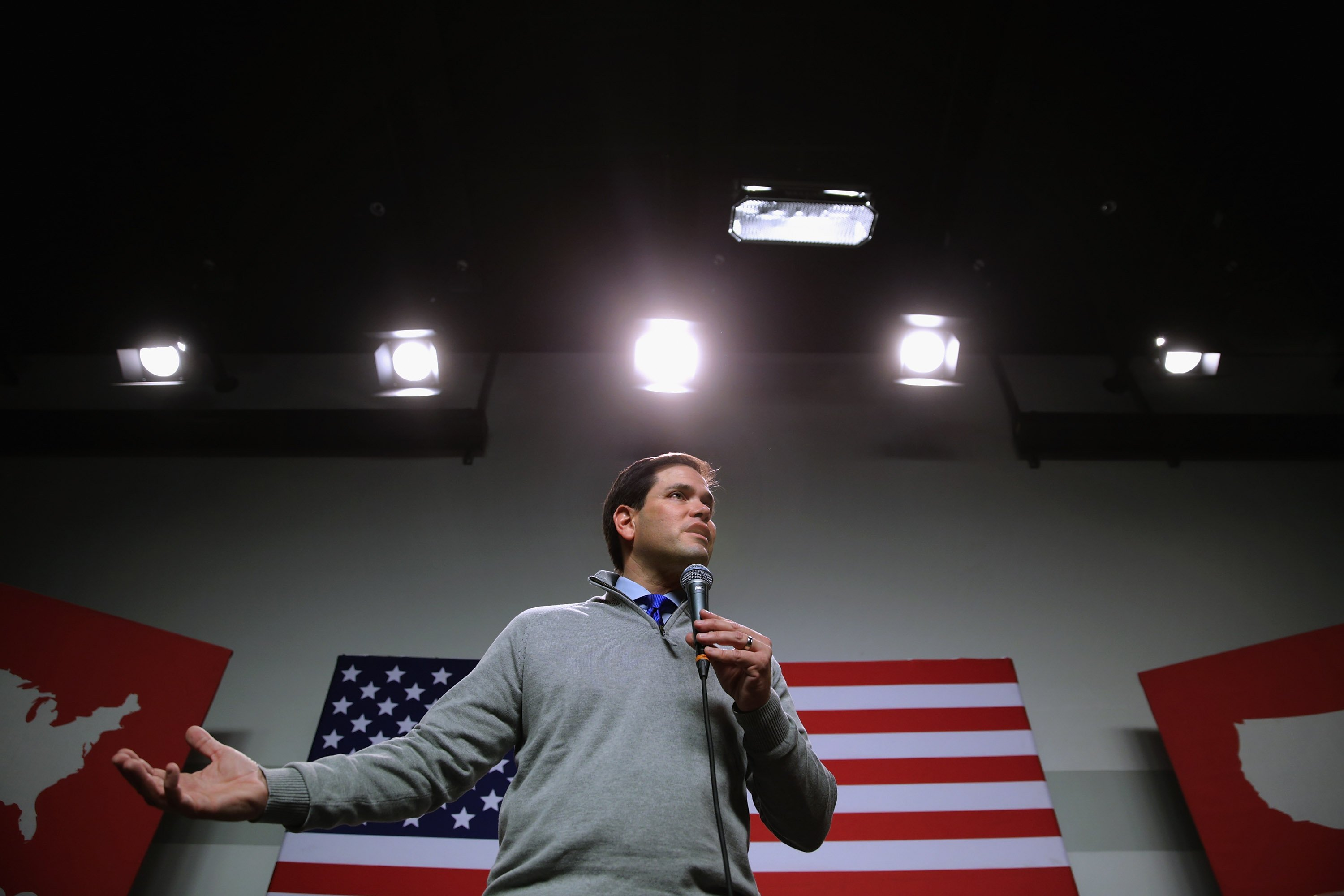 Sen. Marco Rubio holds a campaign town hall event at the New Hampshire Institute of Politics at St. Anselm College in Manchester, N.H. on Feb. 4, 2016.