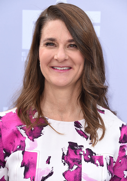 Melinda Gates arrives at the The Hollywood Reporter's Annual Women In Entertainment Breakfast at Milk Studios in Los Angeles on Dec. 9, 2015.