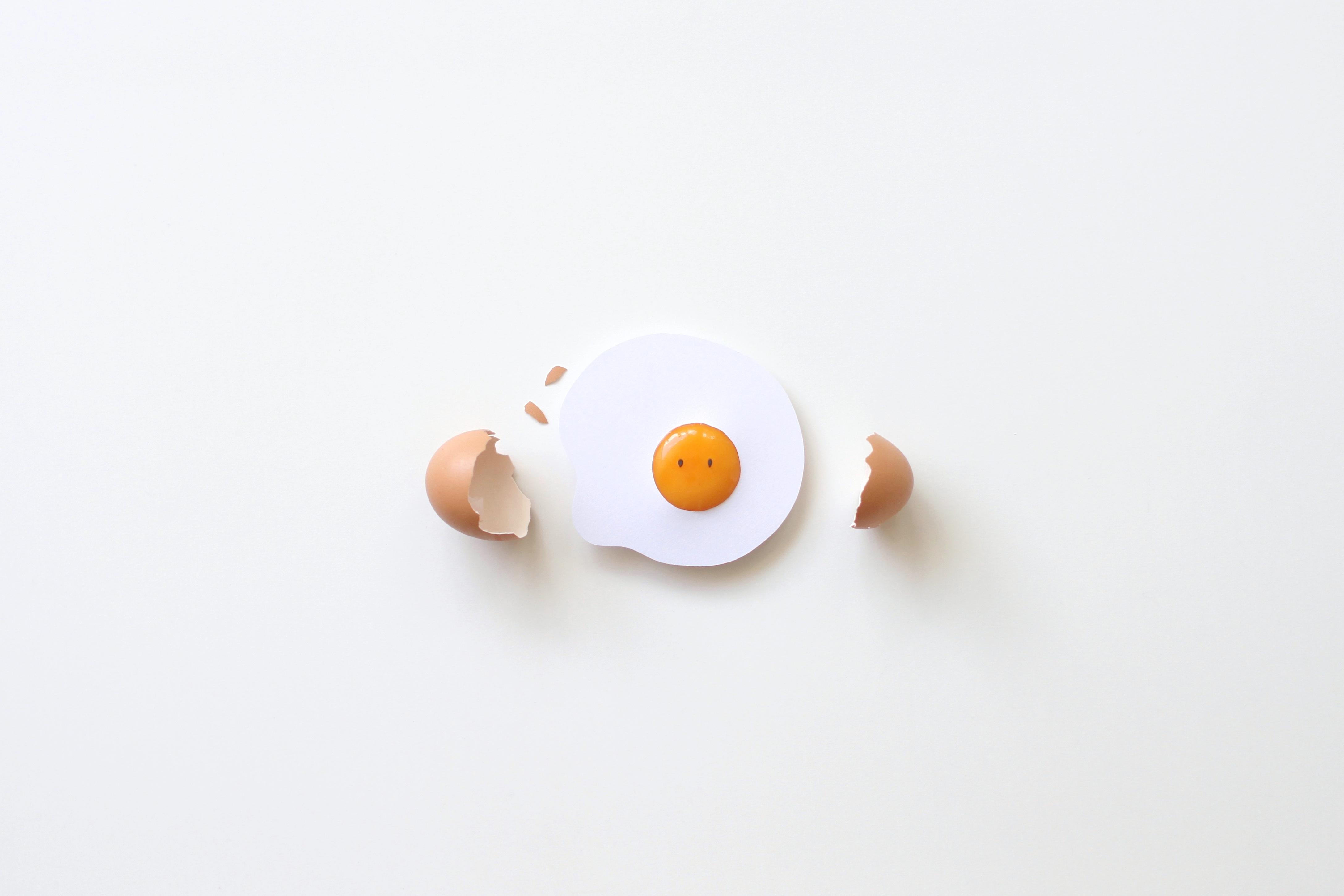 Cconceptual cracked egg
