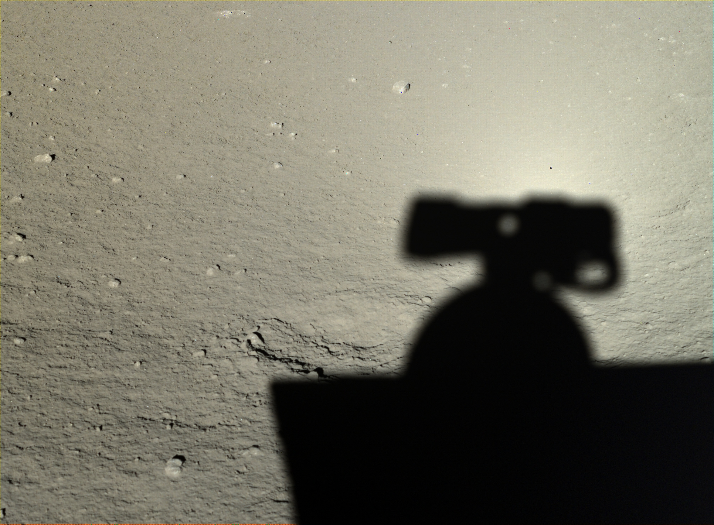 Yutu took this photo of its own shadow on Jan. 12, 2014.