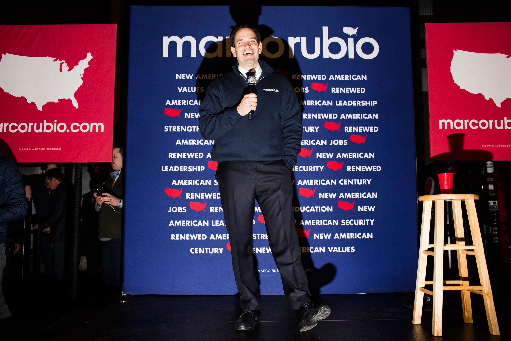 Florida. Sen. Marco Rubio speaks to attendees during a campaign event at the Allard Center on Feb. 7, 2016, in Manchester, N.H.