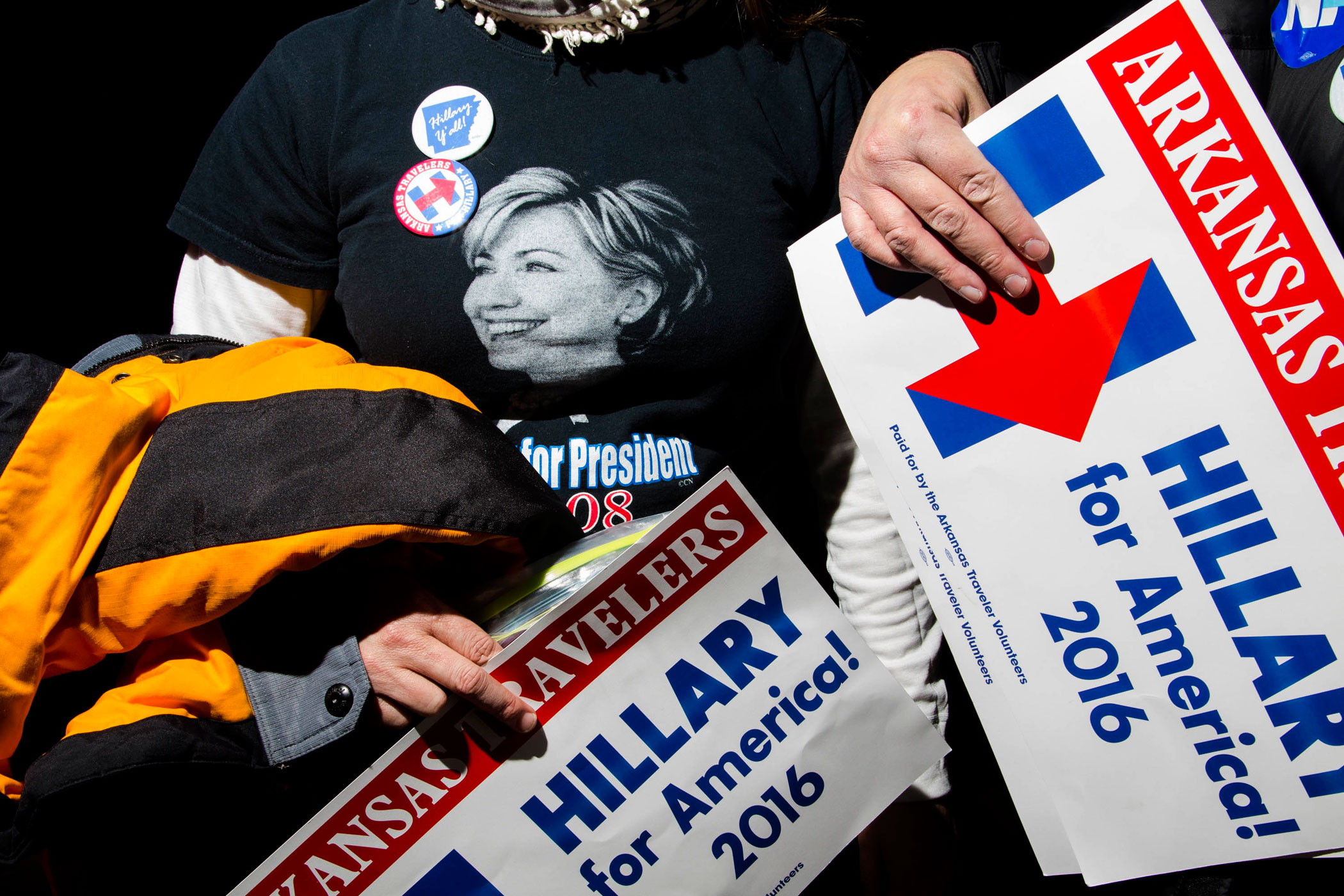 Supporters of former Secretary of State Hillary Clinton attend a campaign event at Great Bay Community College on Feb. 6, 2016, in Portsmouth, N.H.