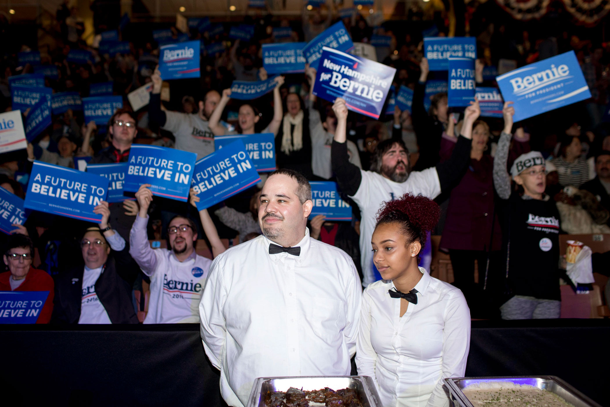 The McIntyre-Shaheen 100 Club Celebration featured Democratic presidential candidates Hillary Clinton and Bernie Sanders at the Verizon Arena in Manchester, N.H. on Feb. 5, 2016,