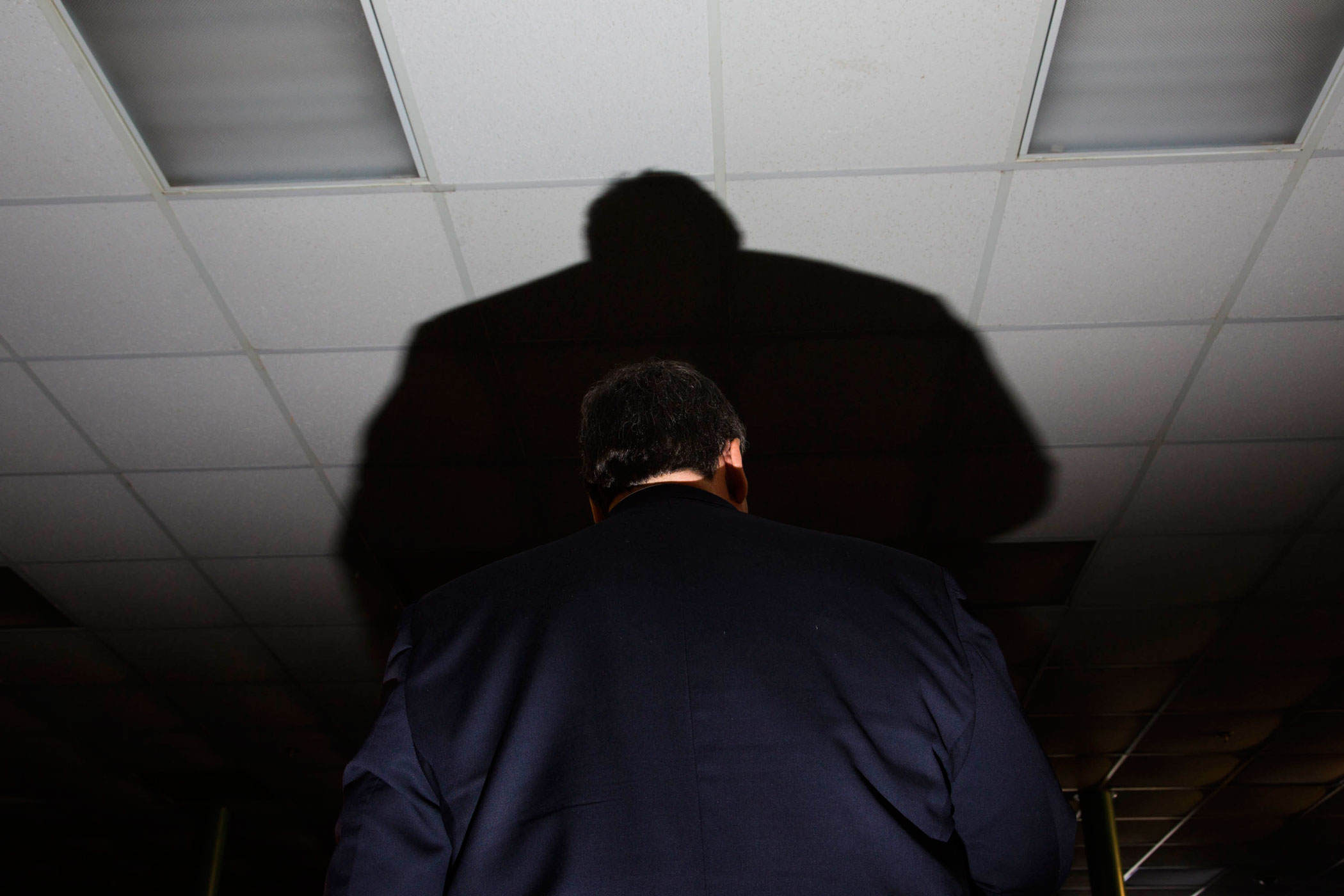 New Jersey Gov. Chris Christie speaks during a campaign event at Hampton Academy on Feb. 7, 2016, in Hampton, N.H.