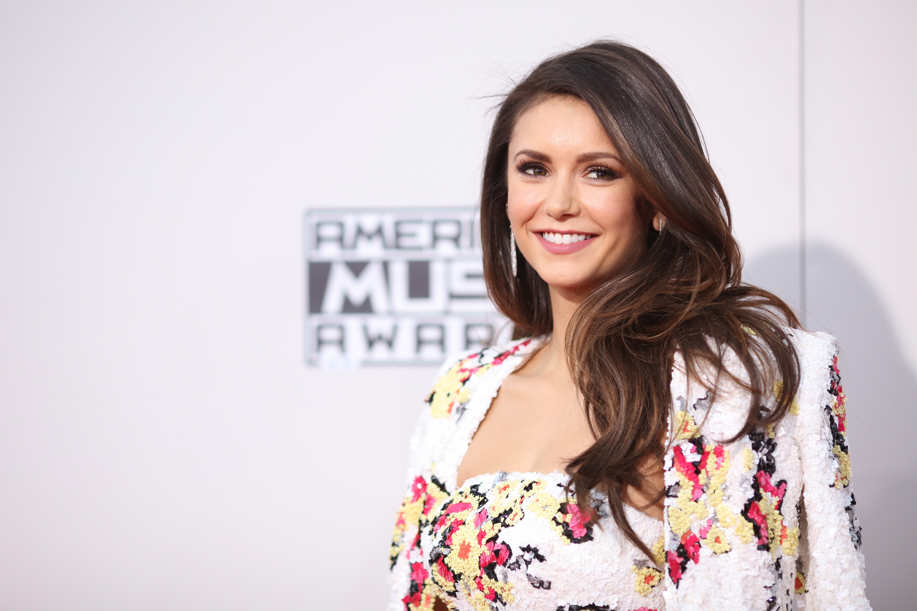 Actress Nina Dobrev attends the 2015 American Music Awards at Microsoft Theater on November 22, 2015 in Los Angeles, California.