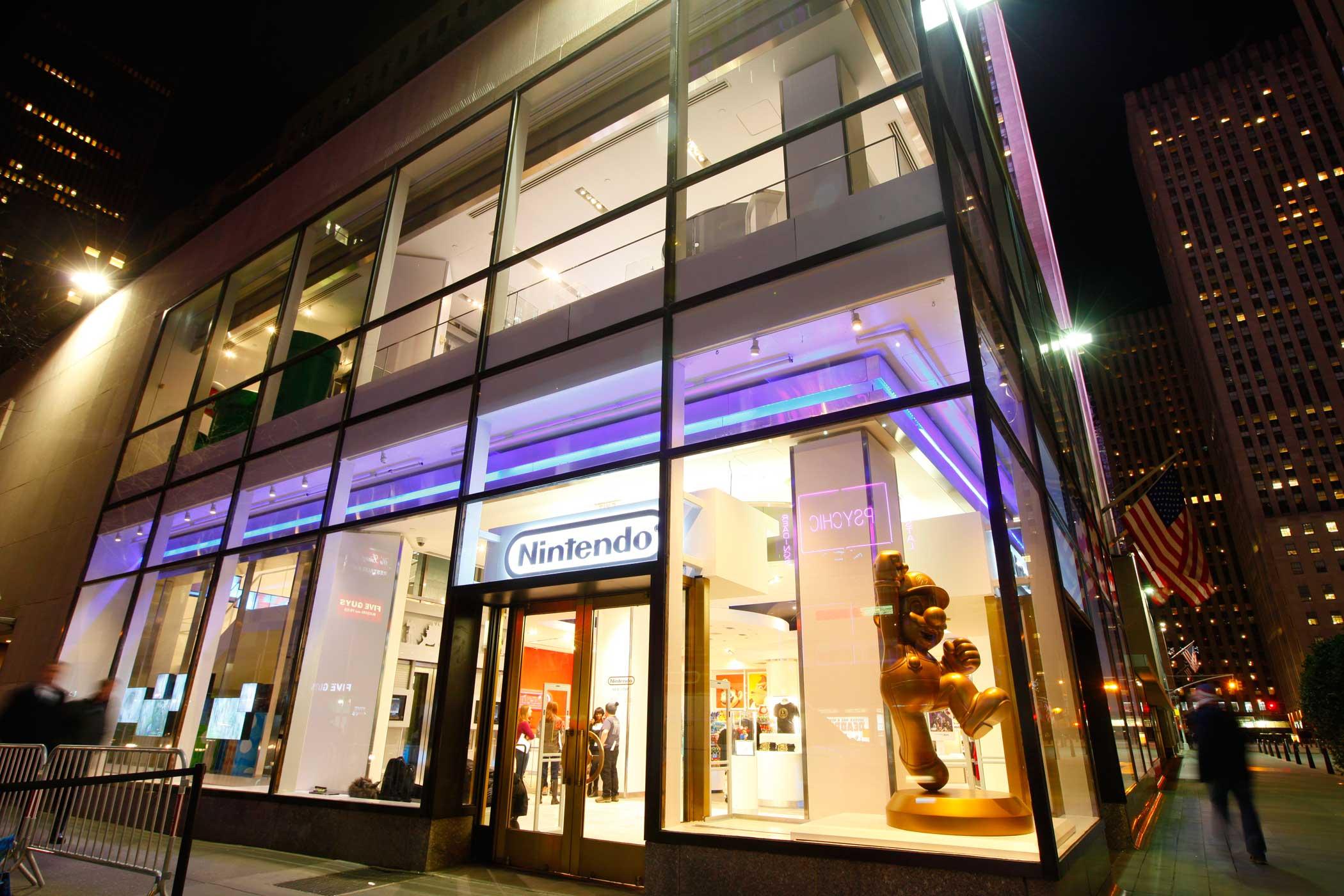 Nintendo New York, Nintendo's flagship store the night before opening. Feb. 19, 2016 in New York.