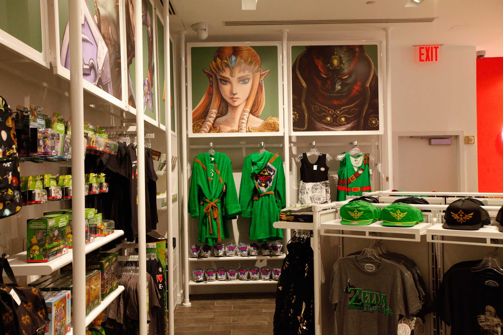 An extensive selection of Nintendo merchandise.