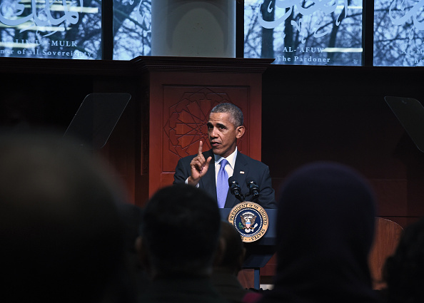 President Barack Obama visits the Islamic Society of Baltimore on Wednesday, Feb. 3, 2016.
